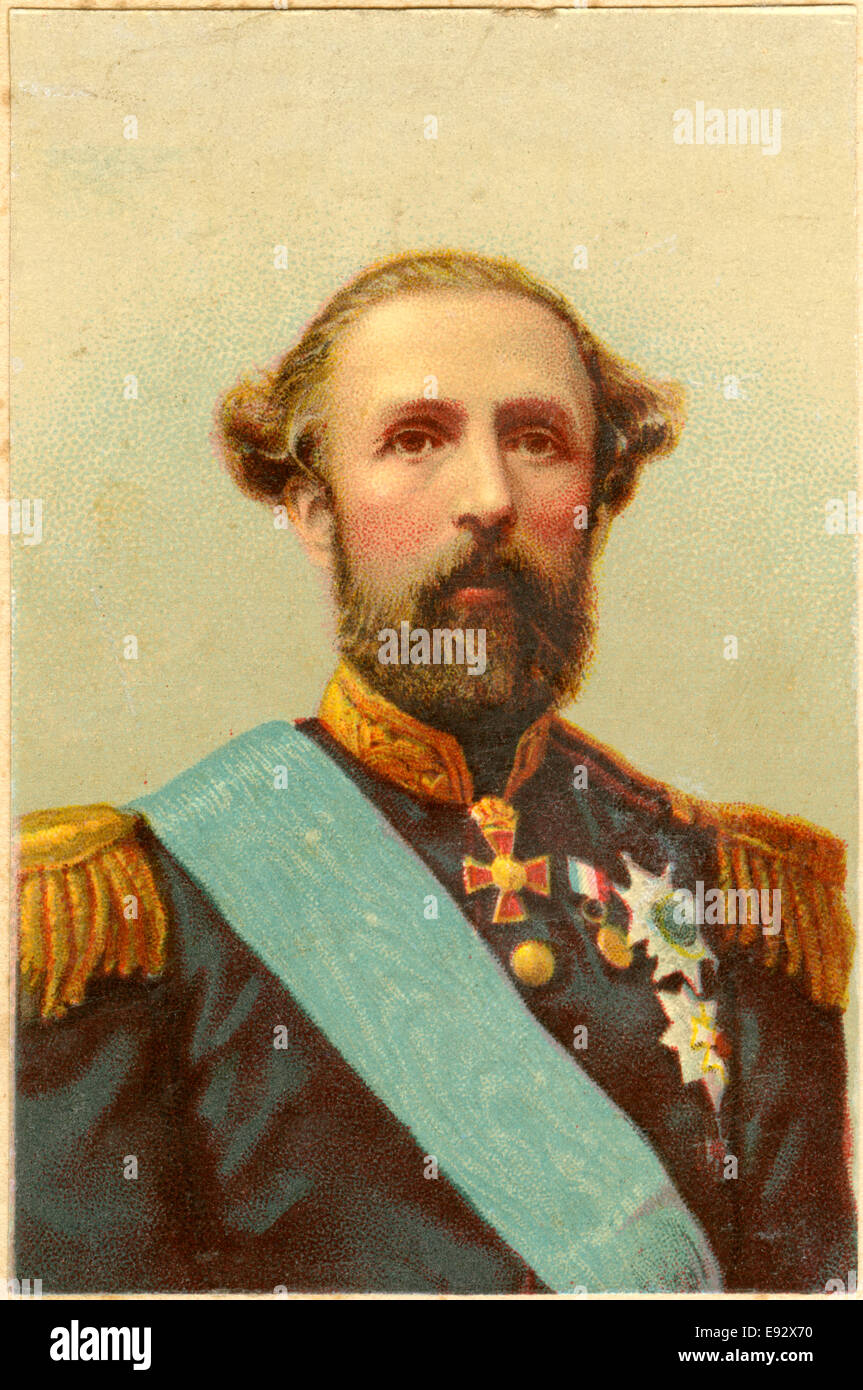 oscar ii 1829 1907 king of sweden 1872 1907 and king of norway stock photo royalty free. Black Bedroom Furniture Sets. Home Design Ideas