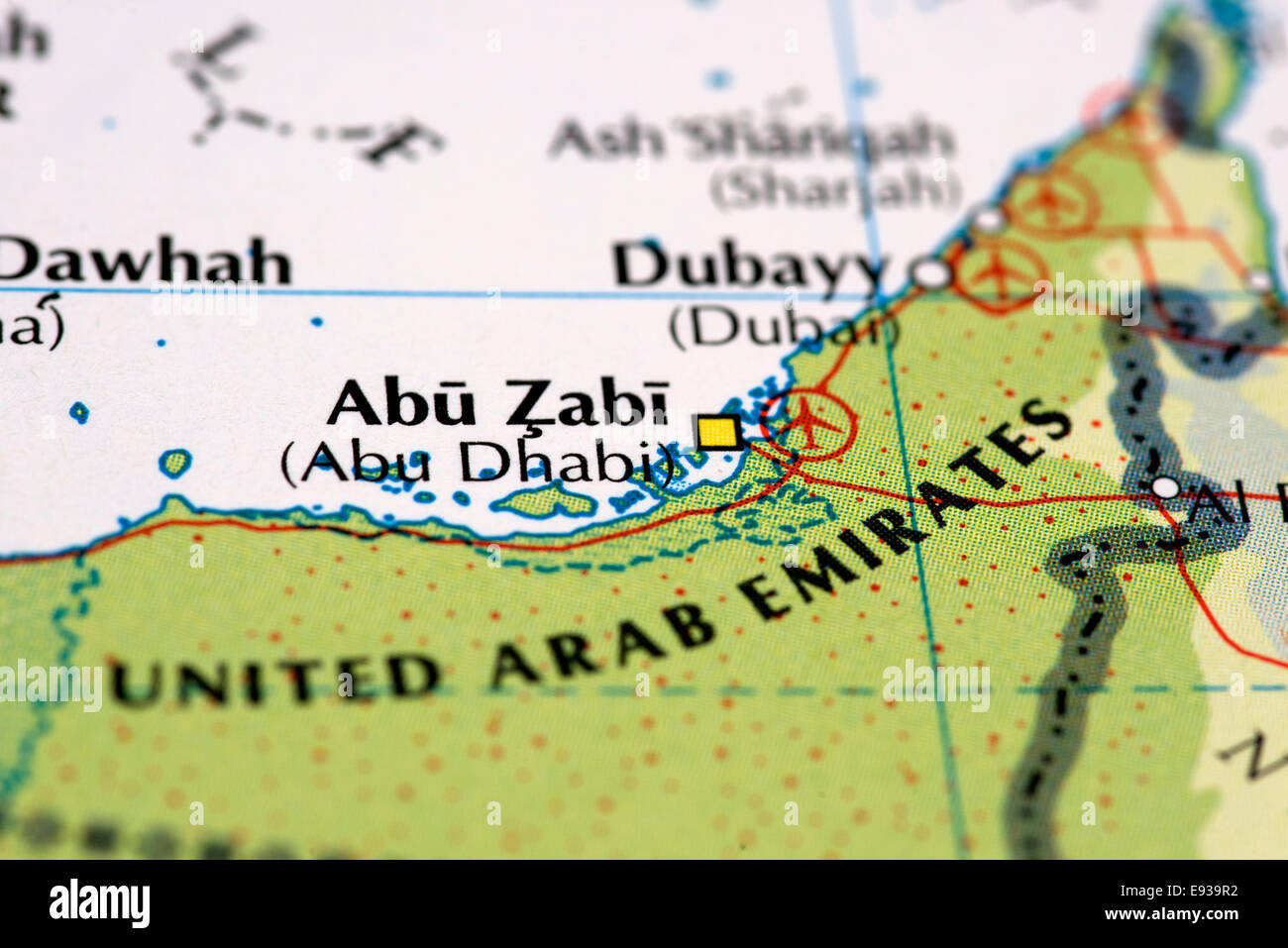 Dubai Map Photos and Dubai Map Images Alamy – Abu Dhabi Dubai Map
