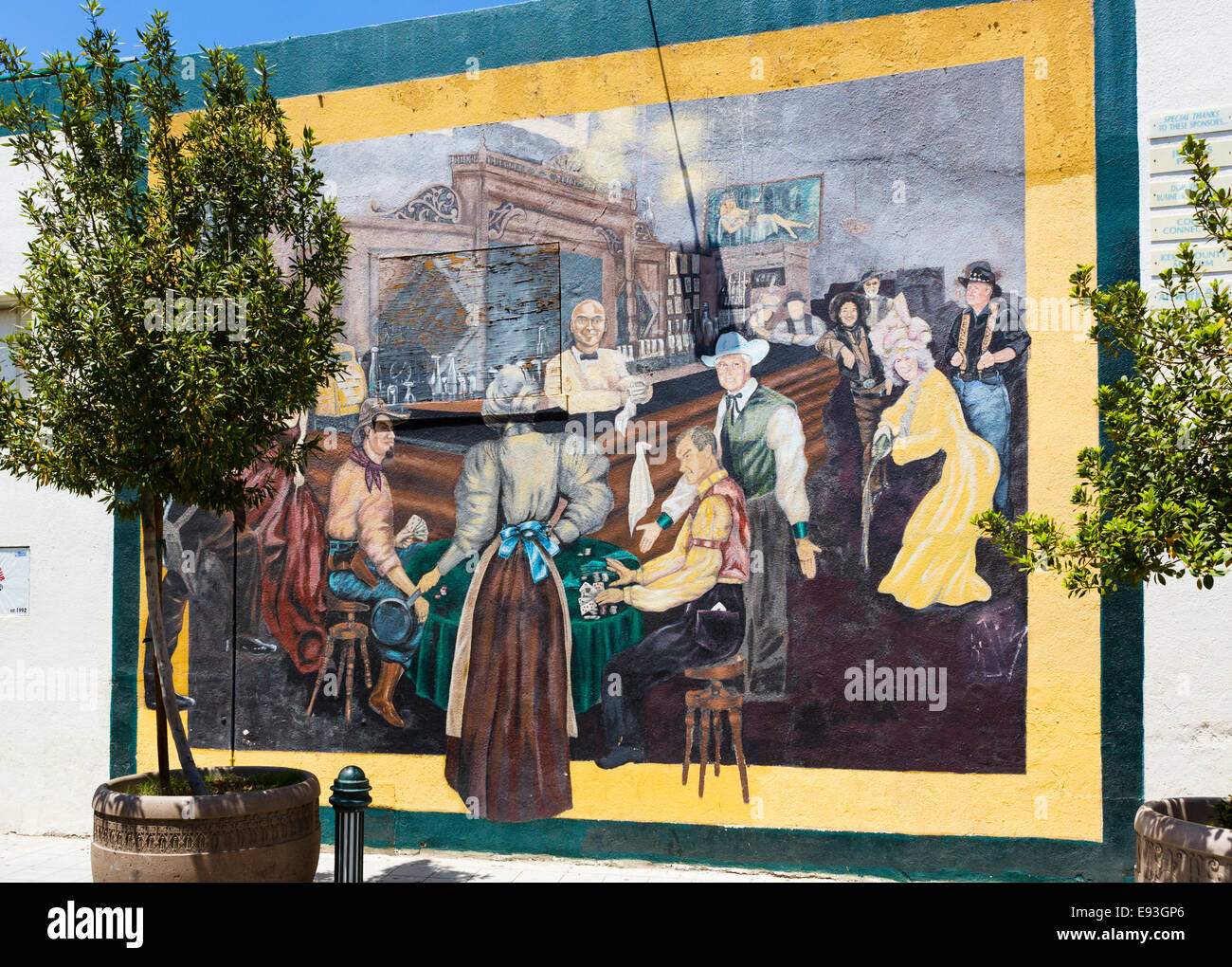Mural on wall street in downtown bakersfield kern county for California mural