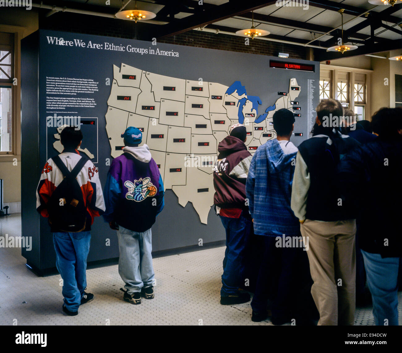 Students By US Ethnic Groups Map Ellis Island Museum New York NY - New york map ellis island