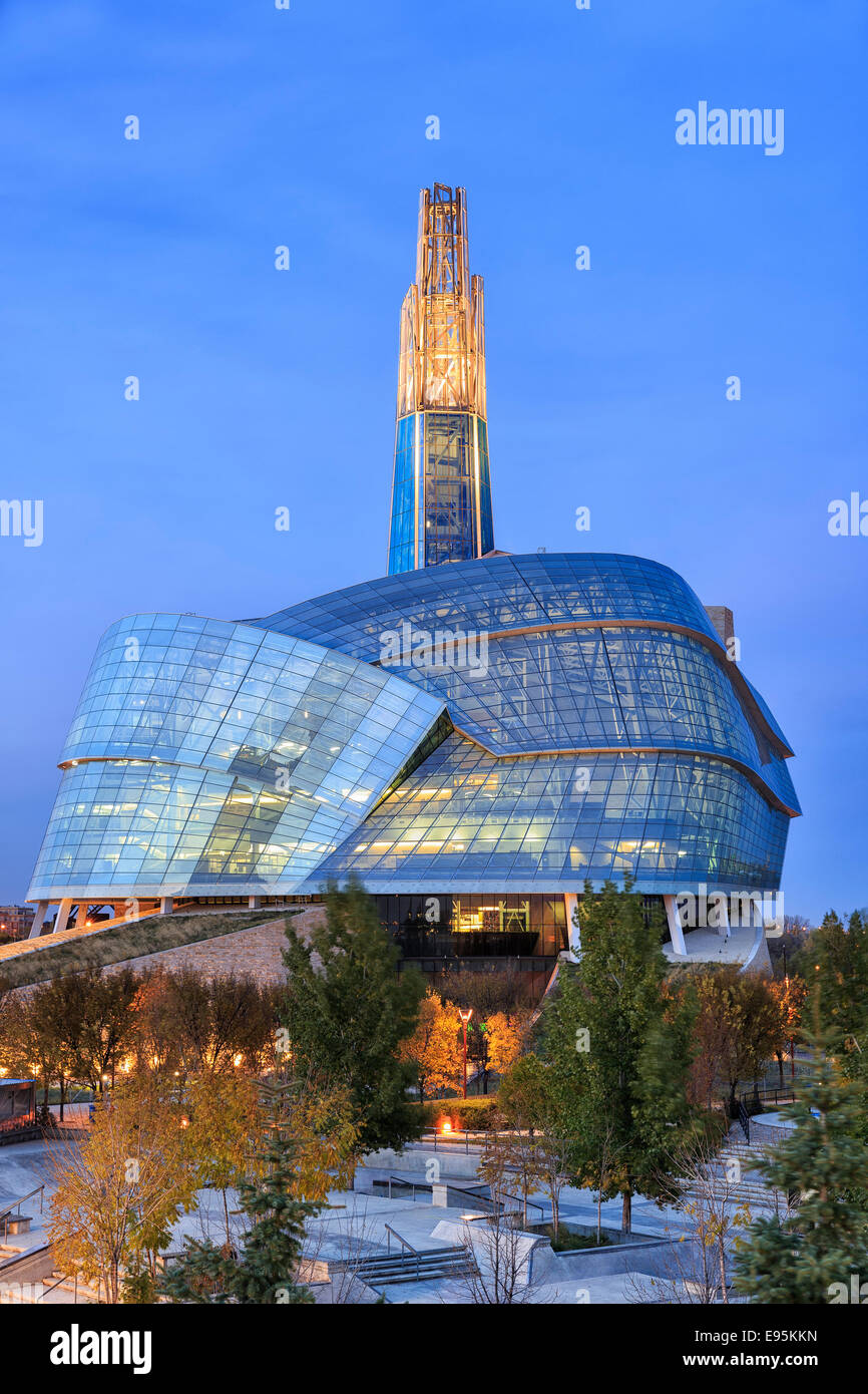 canadian museum for human rights at nightcanadian museum for human