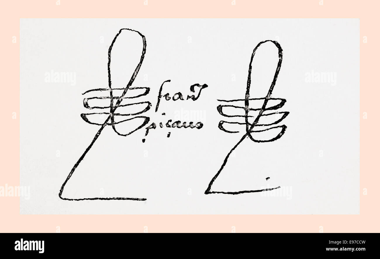 Signature of Francisco Pizarro González, c. 1471/ 1476 ...