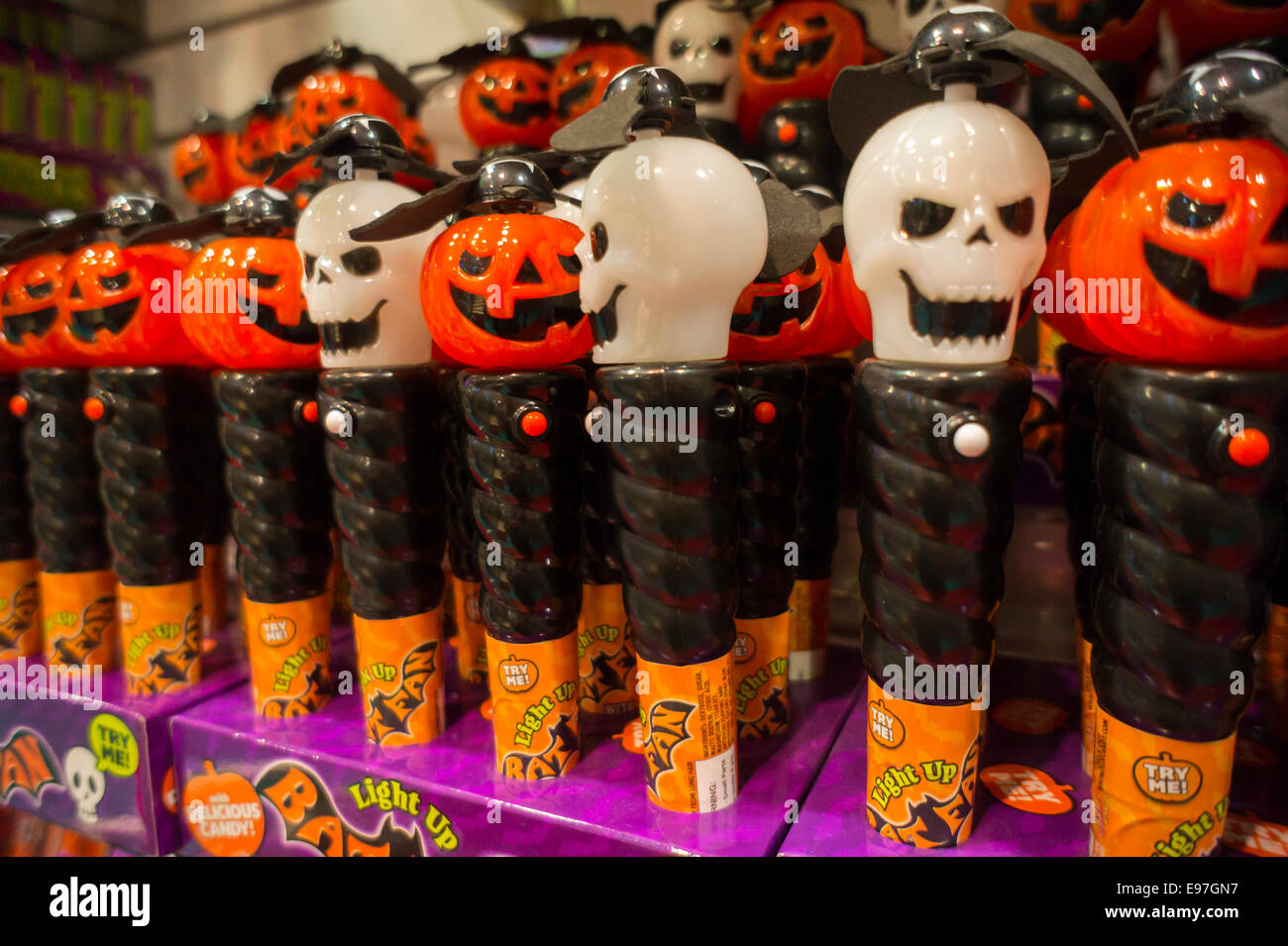Toys For Halloween : Halloween toys are displayed in a dylan s candy bar new