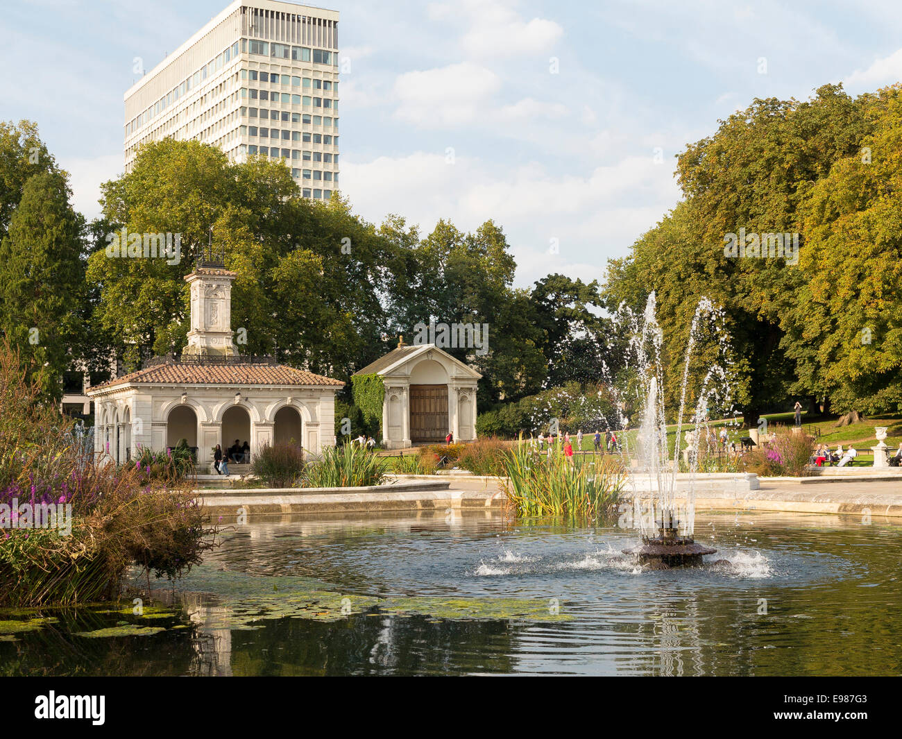 The Italian Gardens, at the end of The Sepentine Lake at