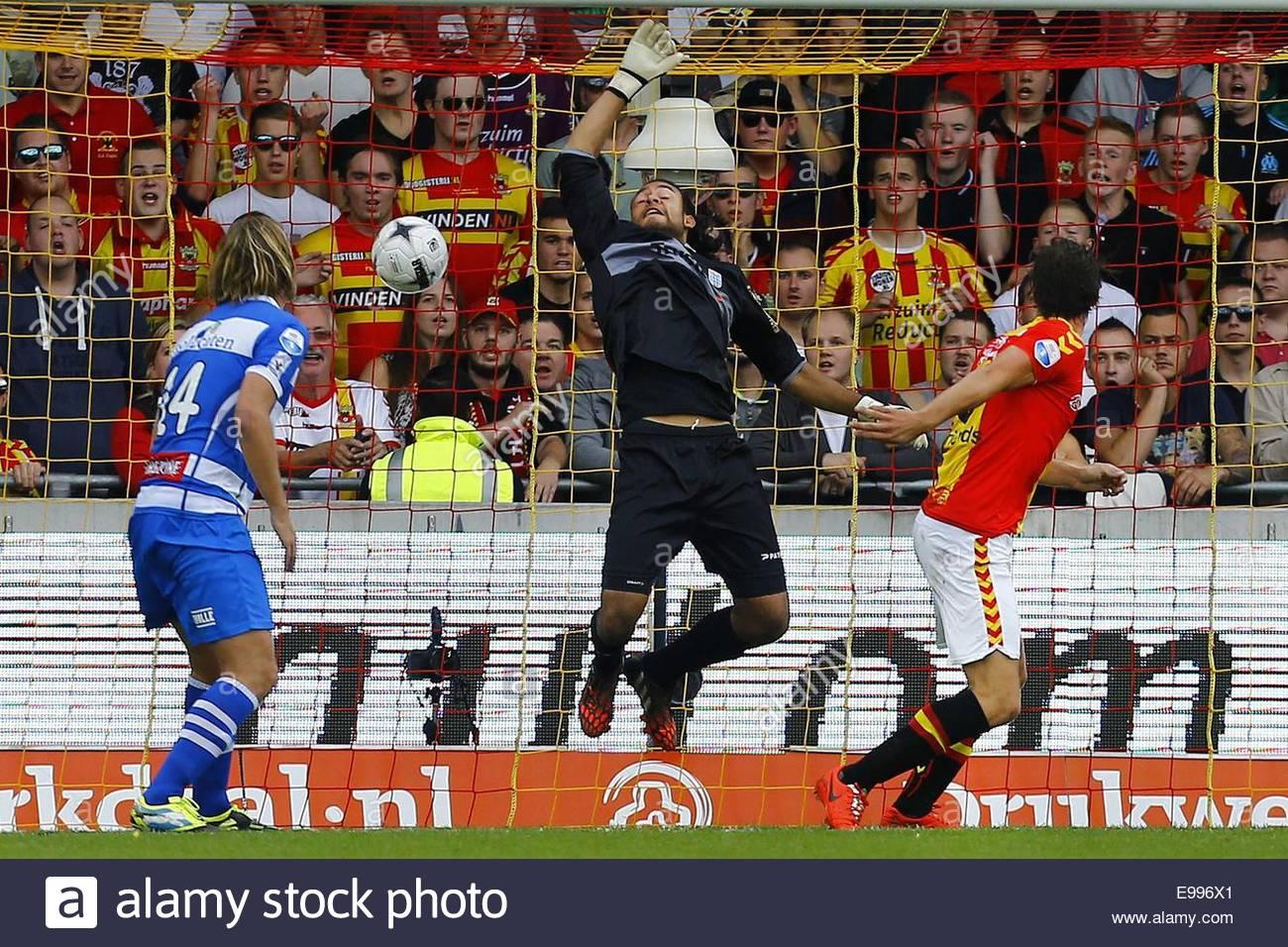 Epa04453868 Go Ahead Eagles Deventer Player Bart Vriends (r) Scores ...