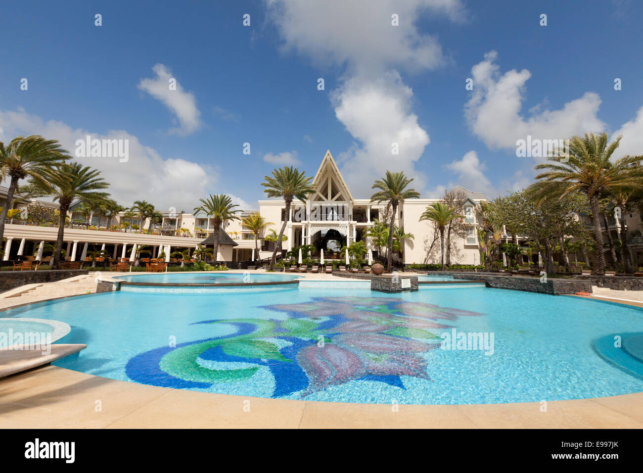 The Luxury 5 Star Residence Hotel And Its Swimming Pool Belle Mare Stock Photo Royalty Free