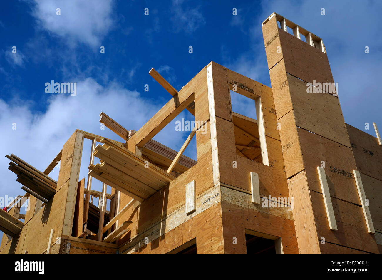 new wood frame house being constructed in vancouver bc canada - Wood Frame House