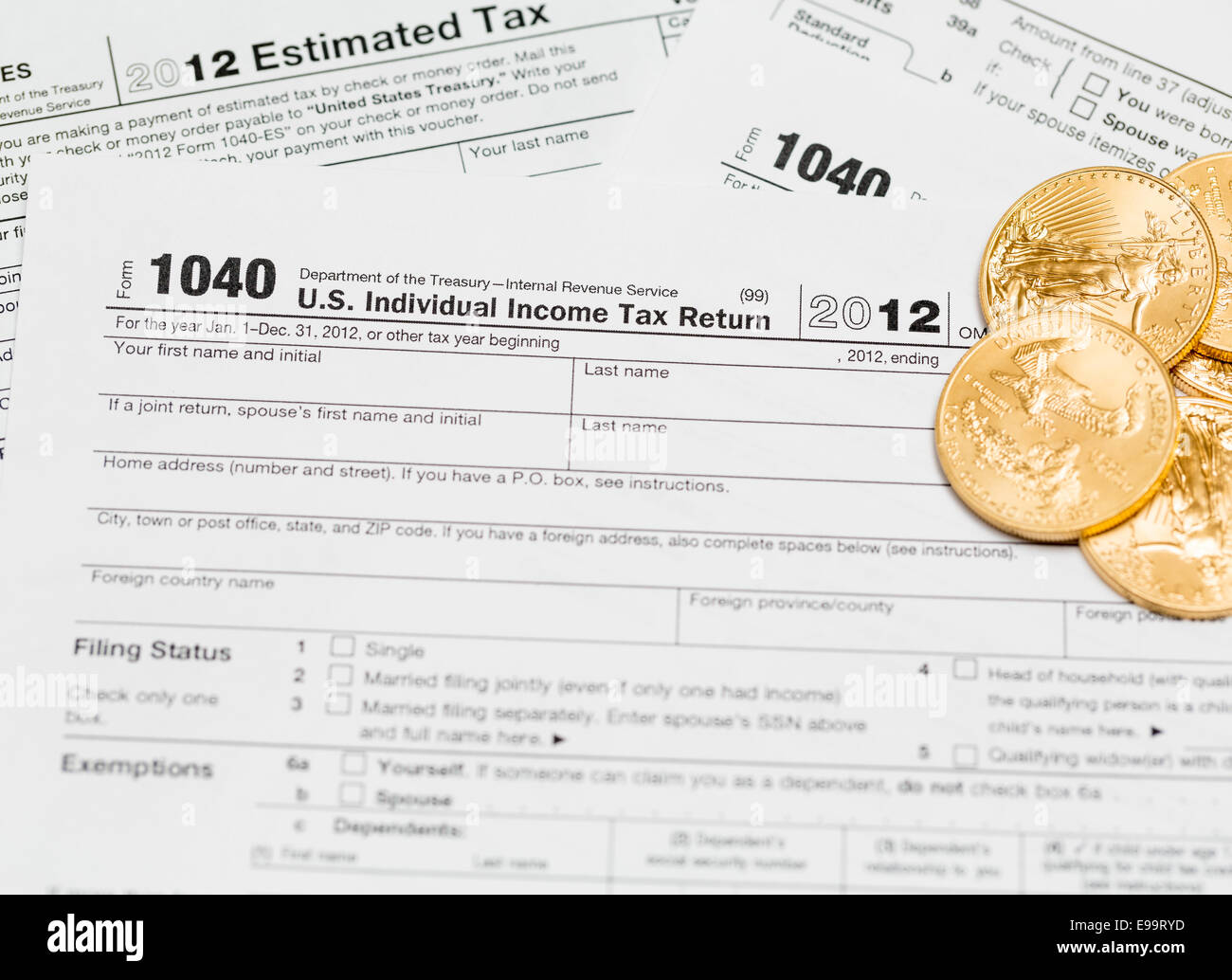 Usa tax form 1040 for year 2012 stock photo royalty free image usa tax form 1040 for year 2012 falaconquin