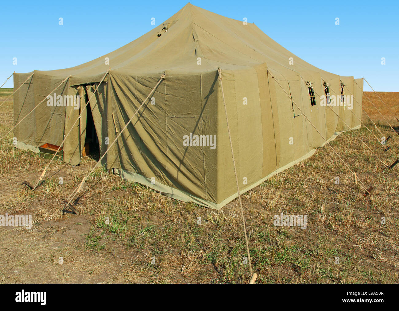 very big military tent in the field & very big military tent in the field Stock Photo Royalty Free ...