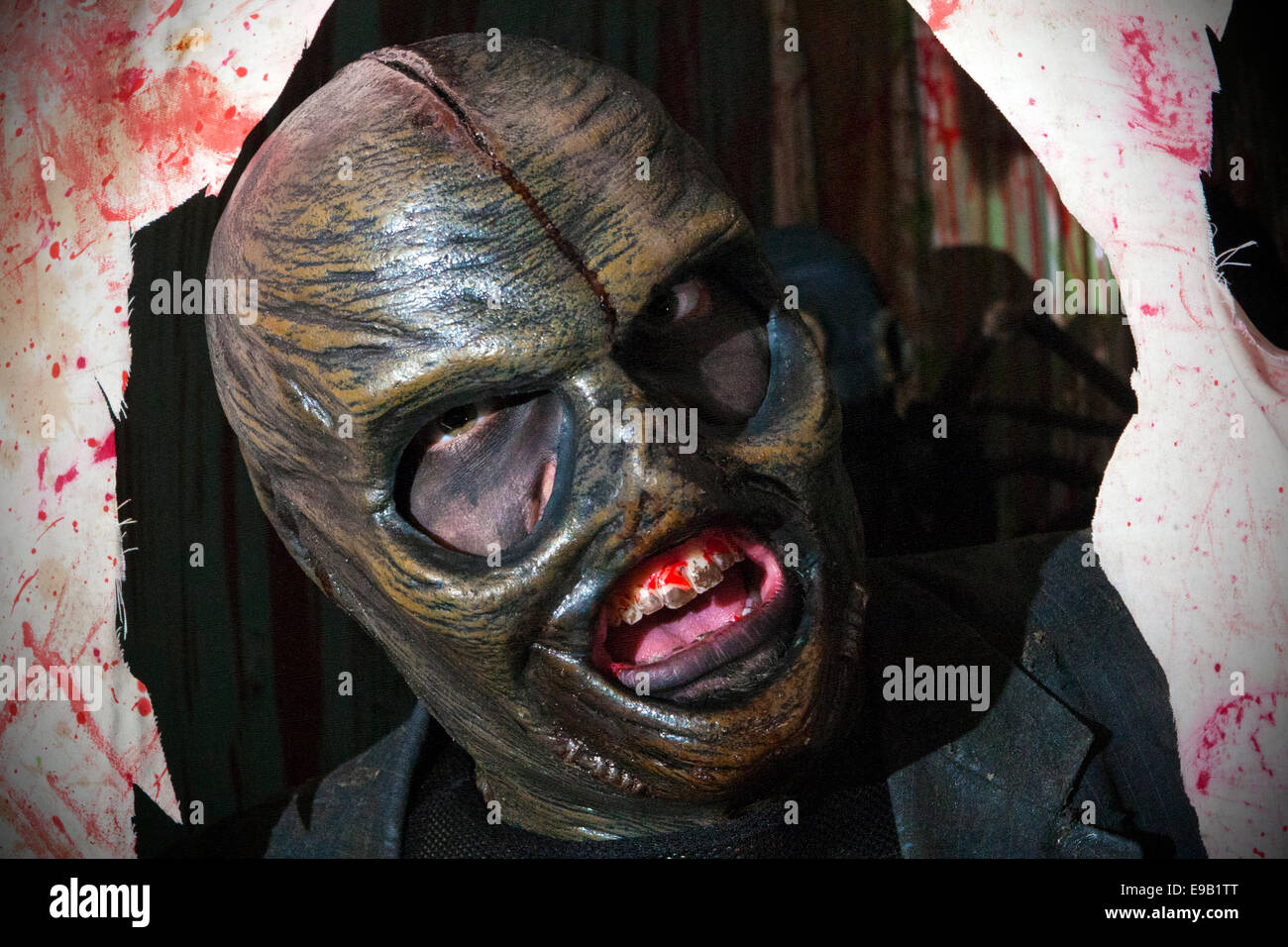 Blackburn, UK. 22nd Oct, 2014. Masked Horror & Halloween costumed ...
