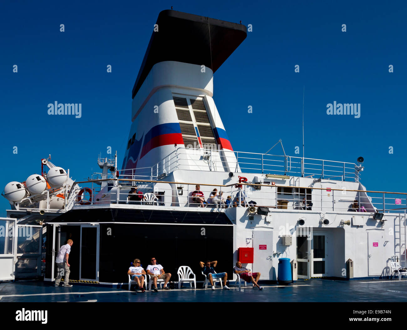Passengers On The Top Deck Of The Mv Bretagne A Cross Channel