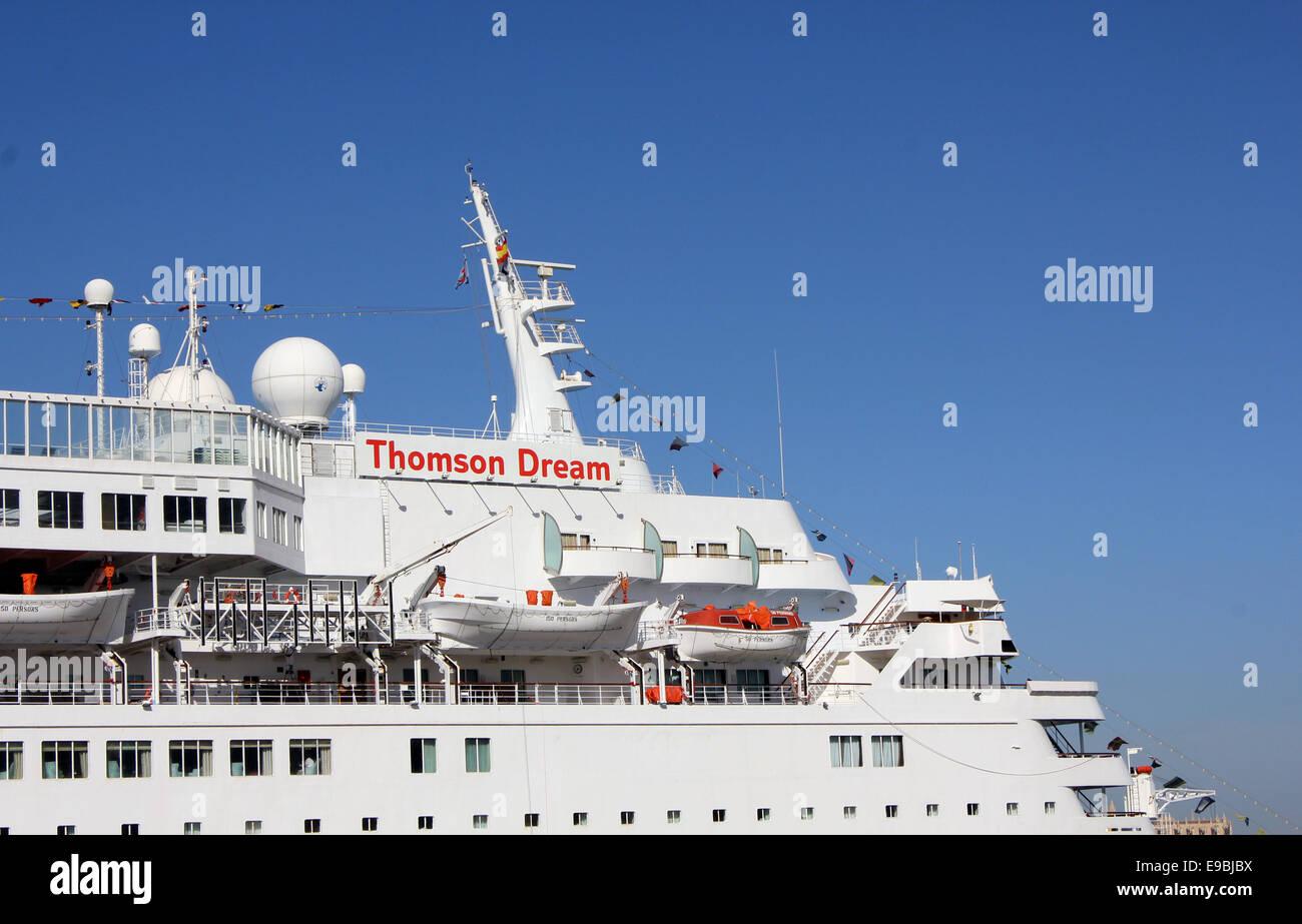Thomson Cruises Cruise Ship Thomson Dream In The Port Of Palma - Thomson dream cruise ship latest news