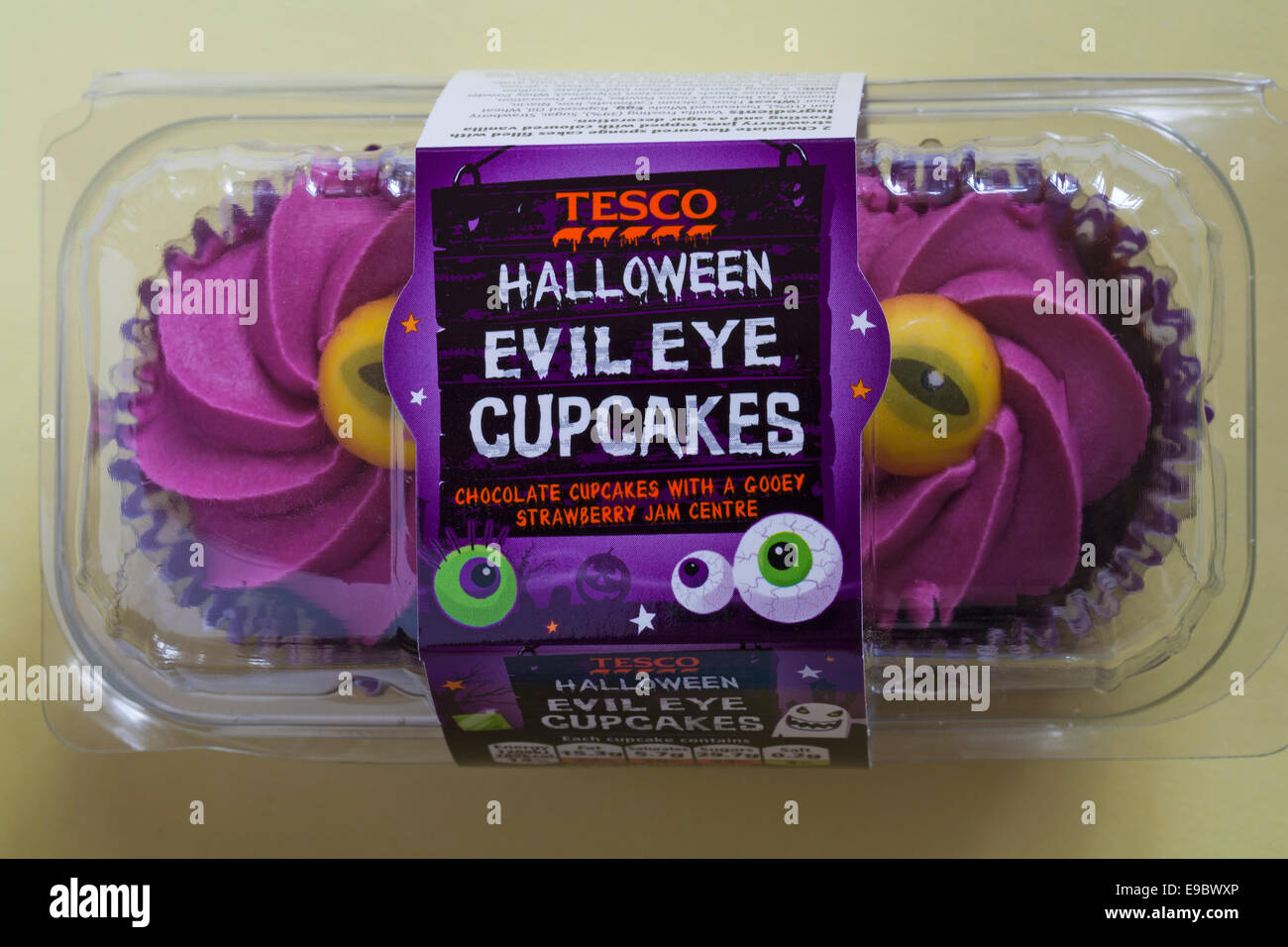 Tesco Halloween Cake Decoration : Packet of Tesco Halloween evil eye cupcakes - chocolate ...