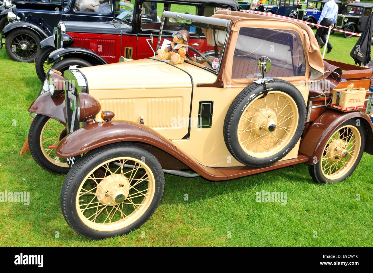 NOTTINGHAM, UK. JUNE 1, 2014: Side view of vintage car for sale in ...