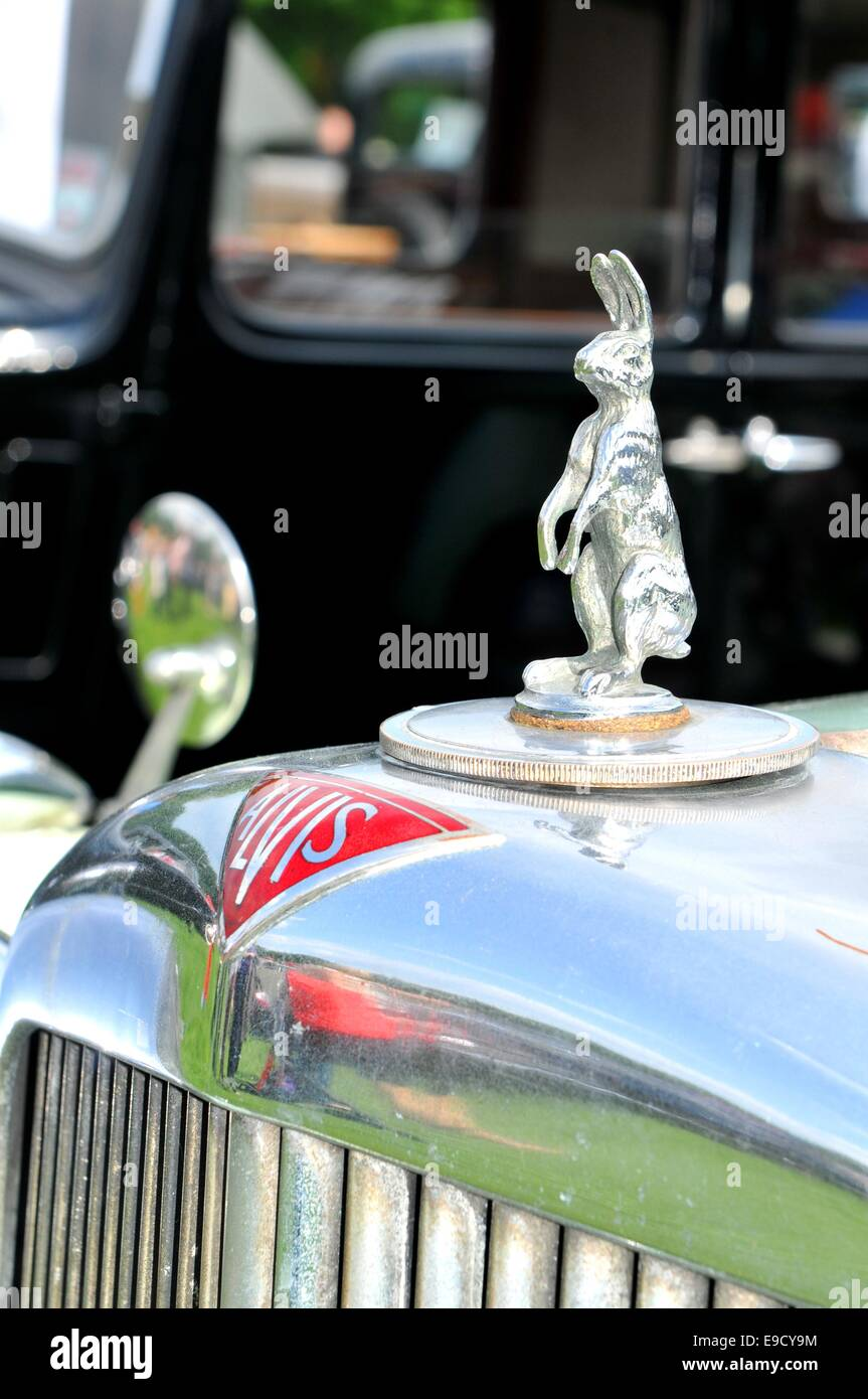 NOTTINGHAM, UK. JUNE 1, 2014: view of vintage car for sale in ...