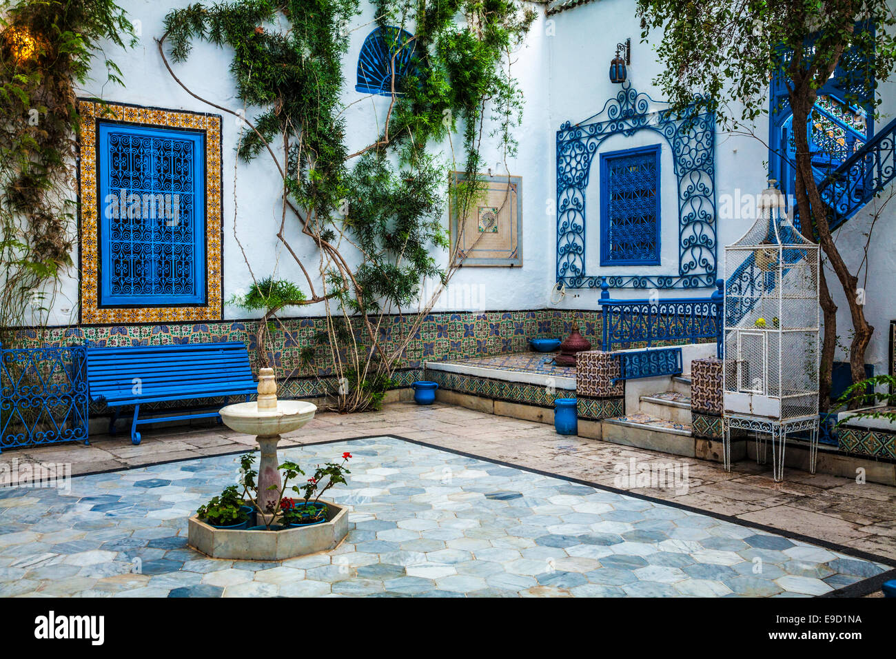 A Traditional Courtyard In A Typical 18th Century Arab