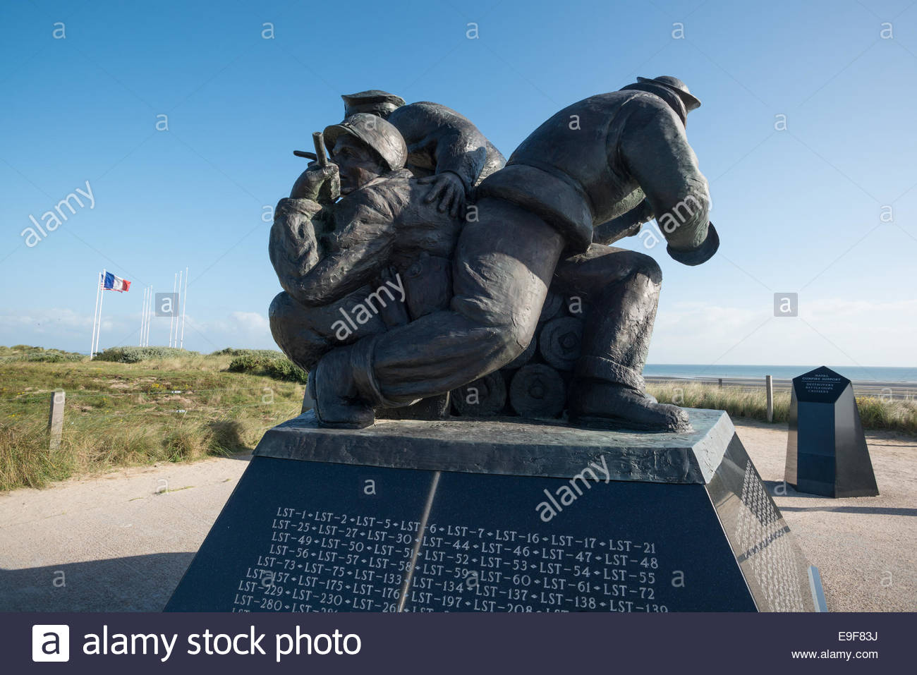 Us Navy Monument Utah Beach Museum Normandy France Stock Image