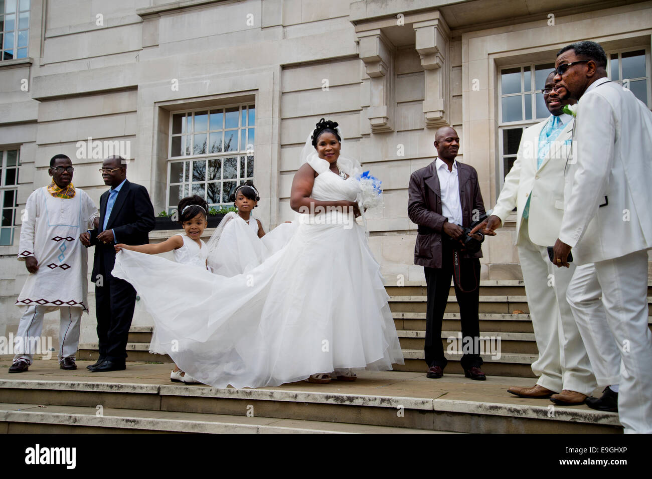 Hackney town hall registry office wedding bride wearing for Best stores for wedding registry