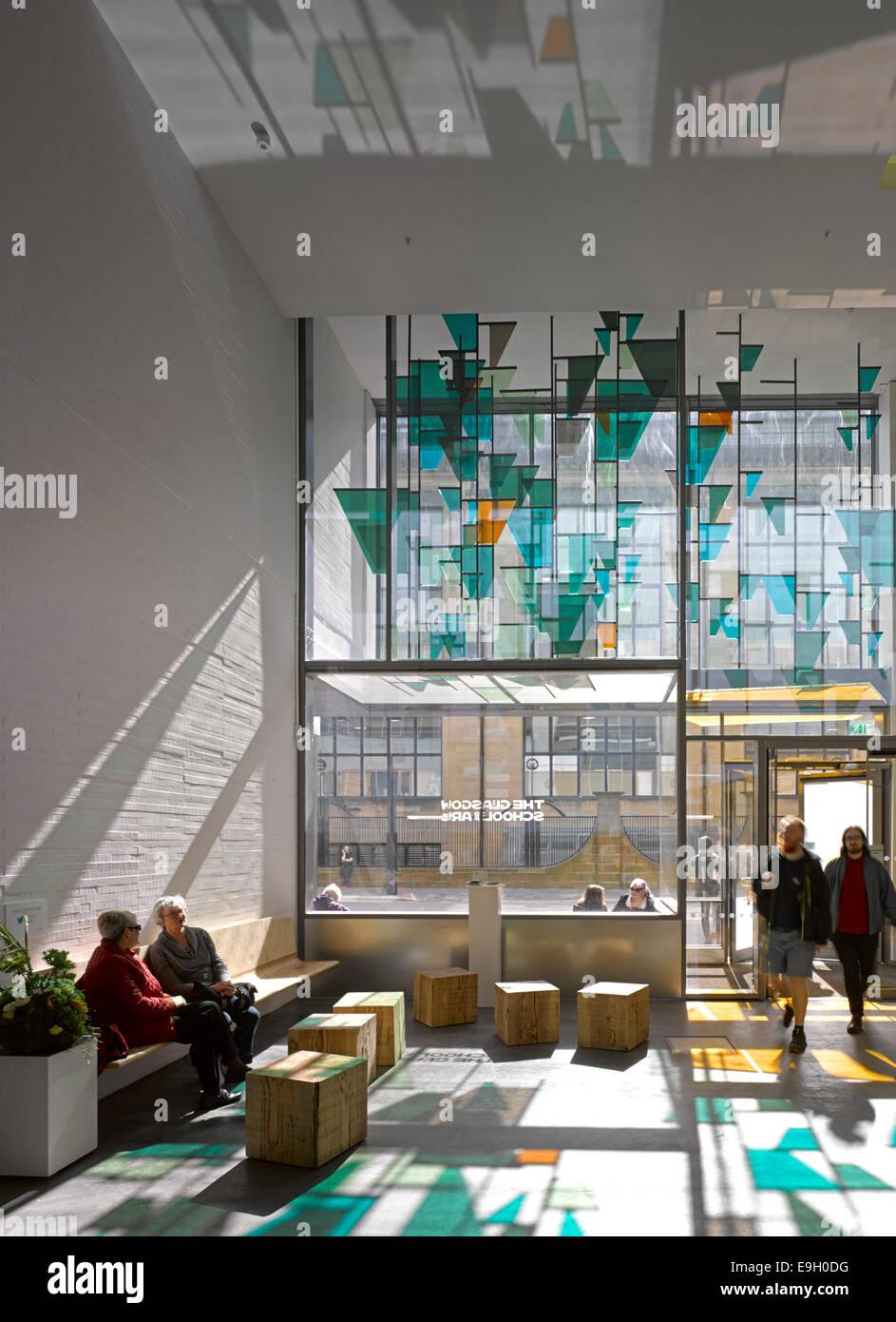 Glasgow School Of Art The Reid Building United Kingdom Architect Steven Holl 2014 Interior View Entrance Lobby