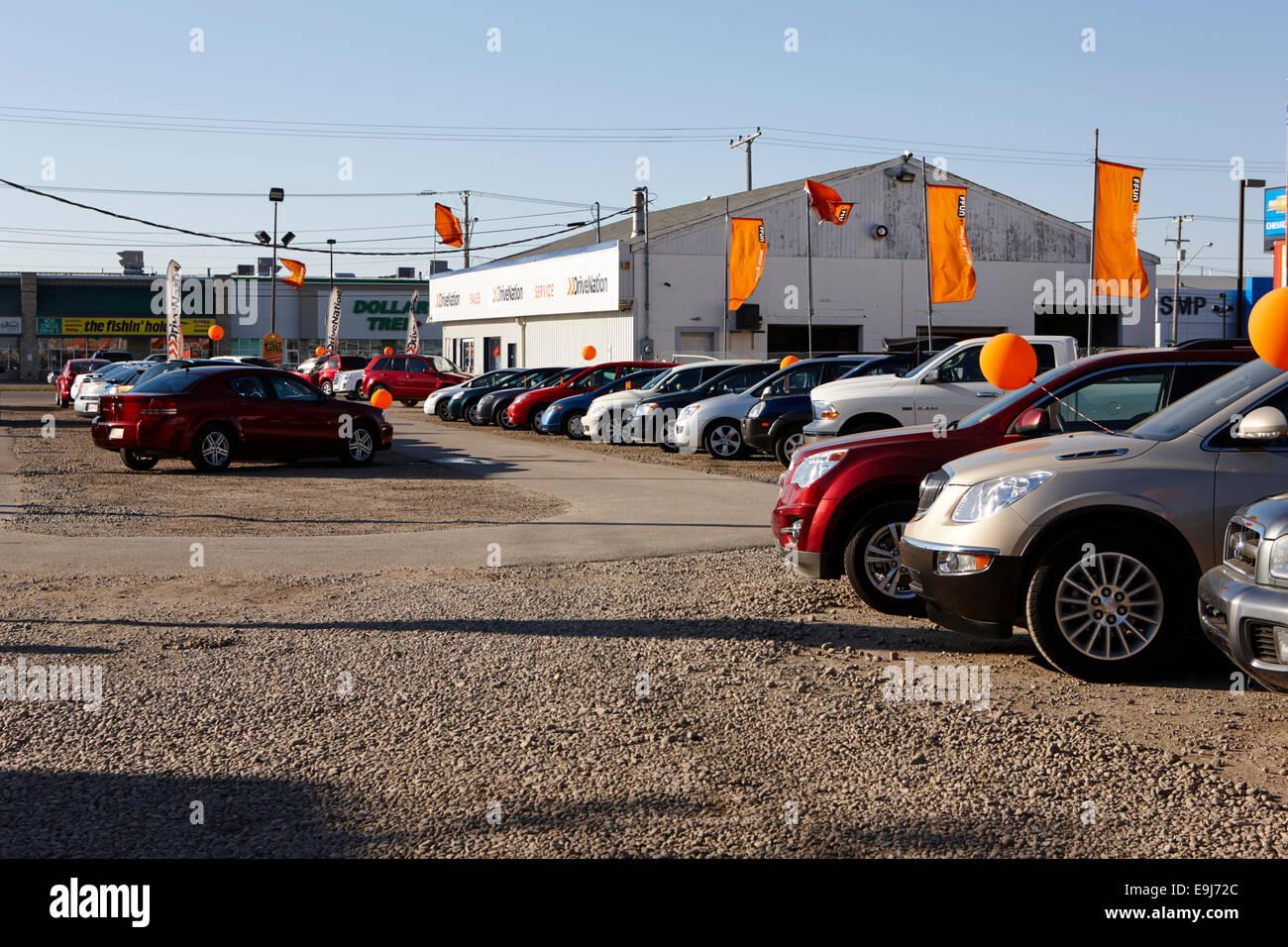 used car lot Saskatchewan Canada Stock Photo, Royalty Free Image ...