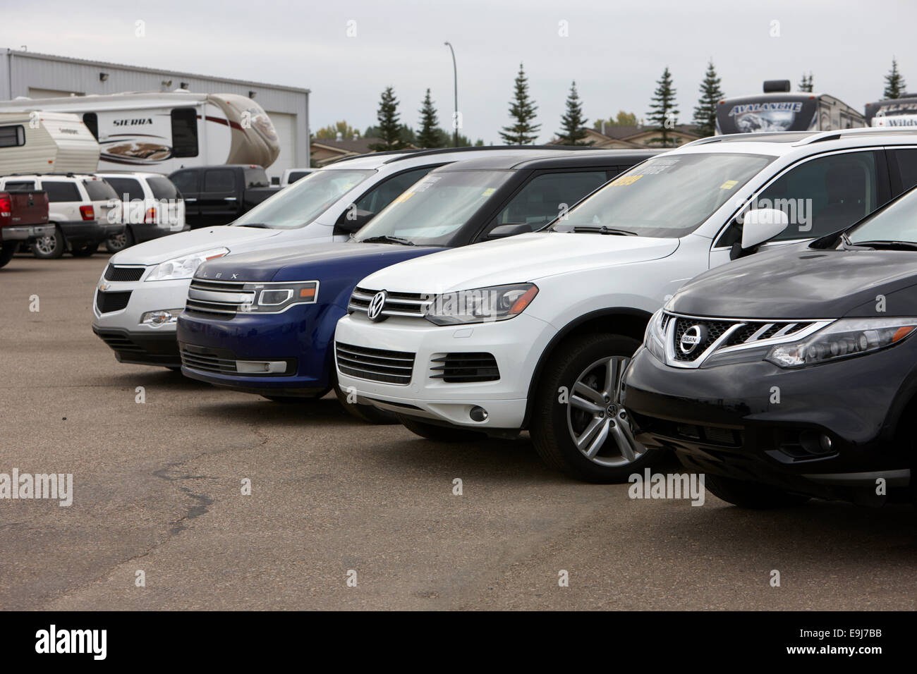 used car dealership Saskatchewan Canada Stock Photo, Royalty Free ...