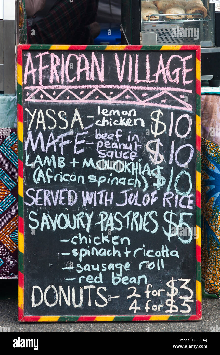 African food stall menu viva victoria multicultural for African cuisine menu