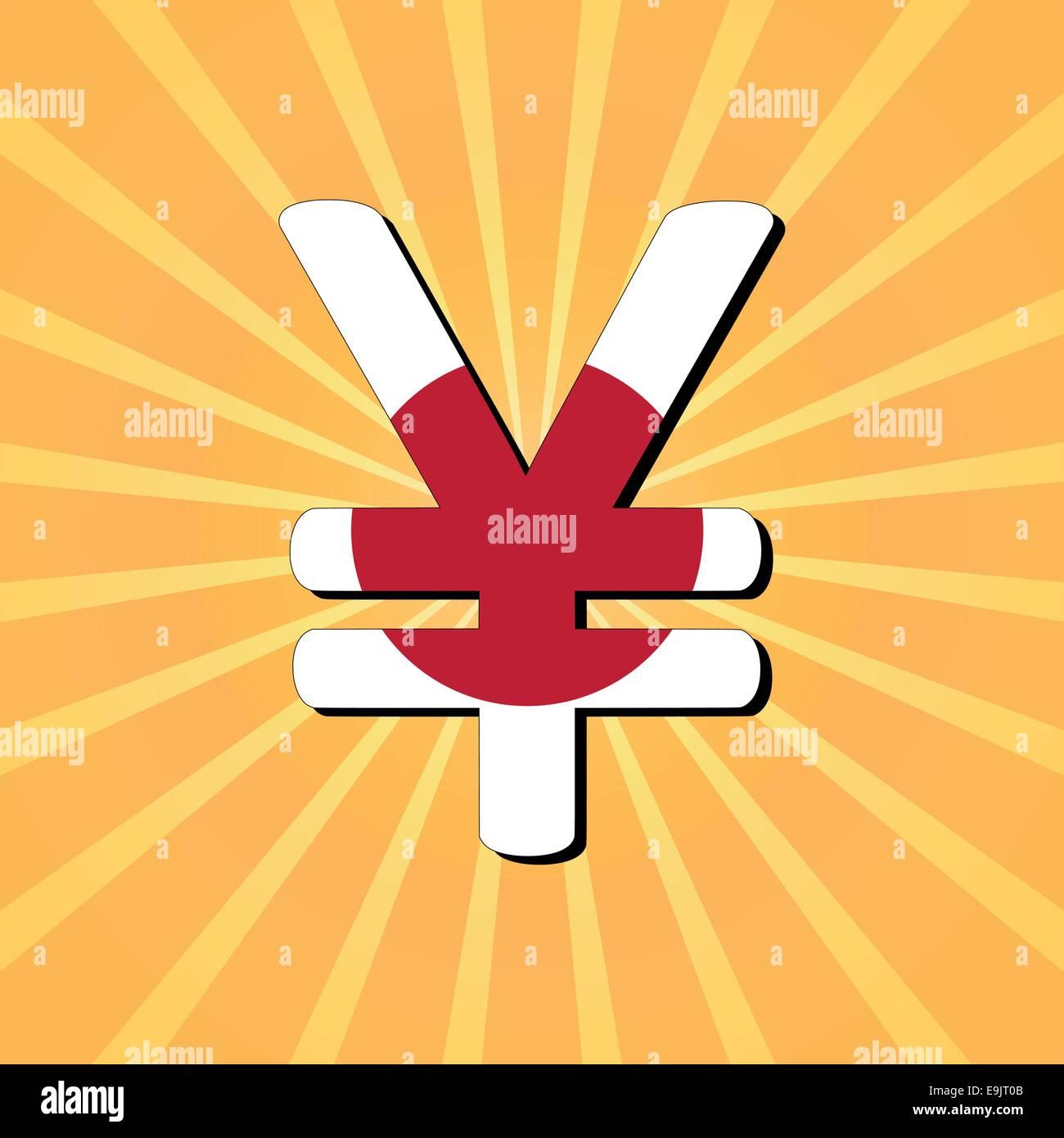 Japanese yen symbol on sunburst illustration stock vector art japanese yen symbol on sunburst illustration biocorpaavc Choice Image
