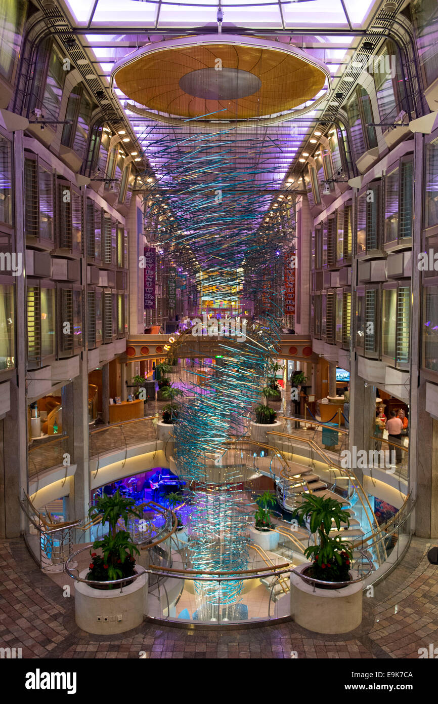Inside Of The Adventurer Of The Seas Cruise Ship Operated By Royal - Pictures of the inside of a cruise ship