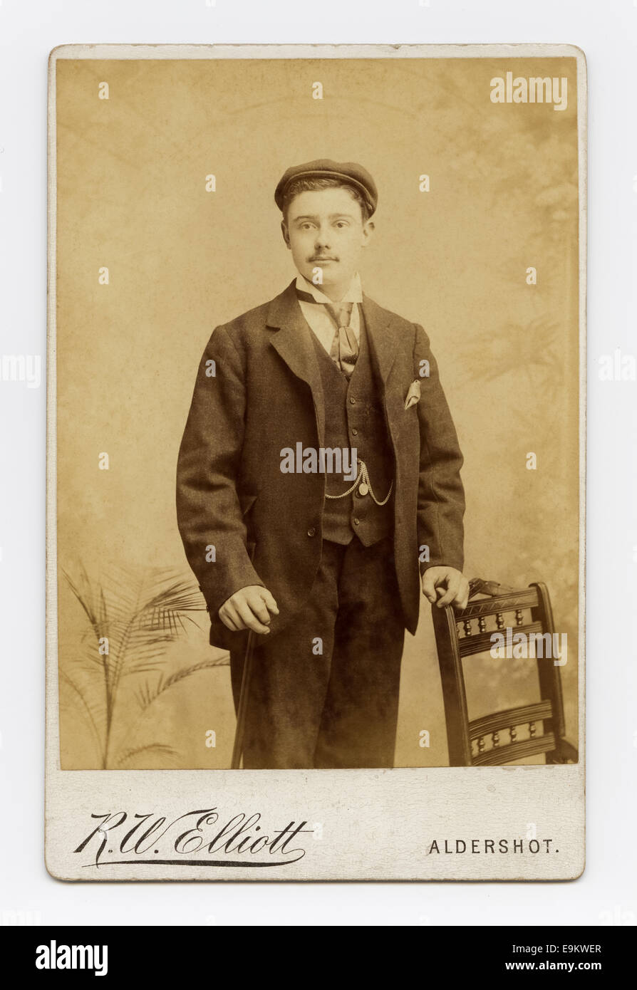 Victorian Cabinet Card Studio Portrait Of A Young Man From