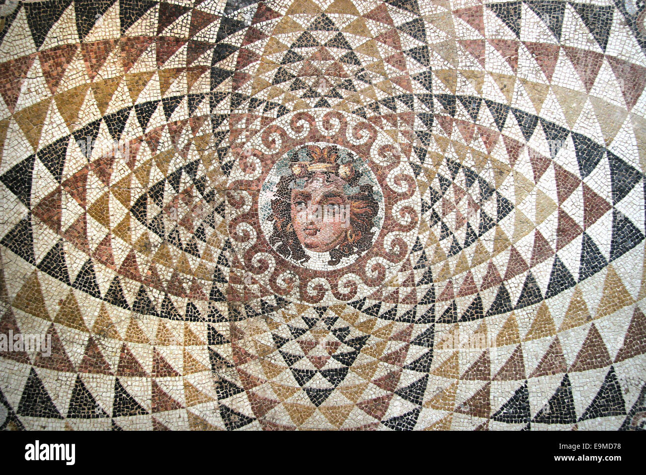 Mosaic of dionysos from the ruins of central panel from mosaic of dionysos from the ruins of central panel from tessellated floor of a roman villa second half 2nd century bc depict dailygadgetfo Images
