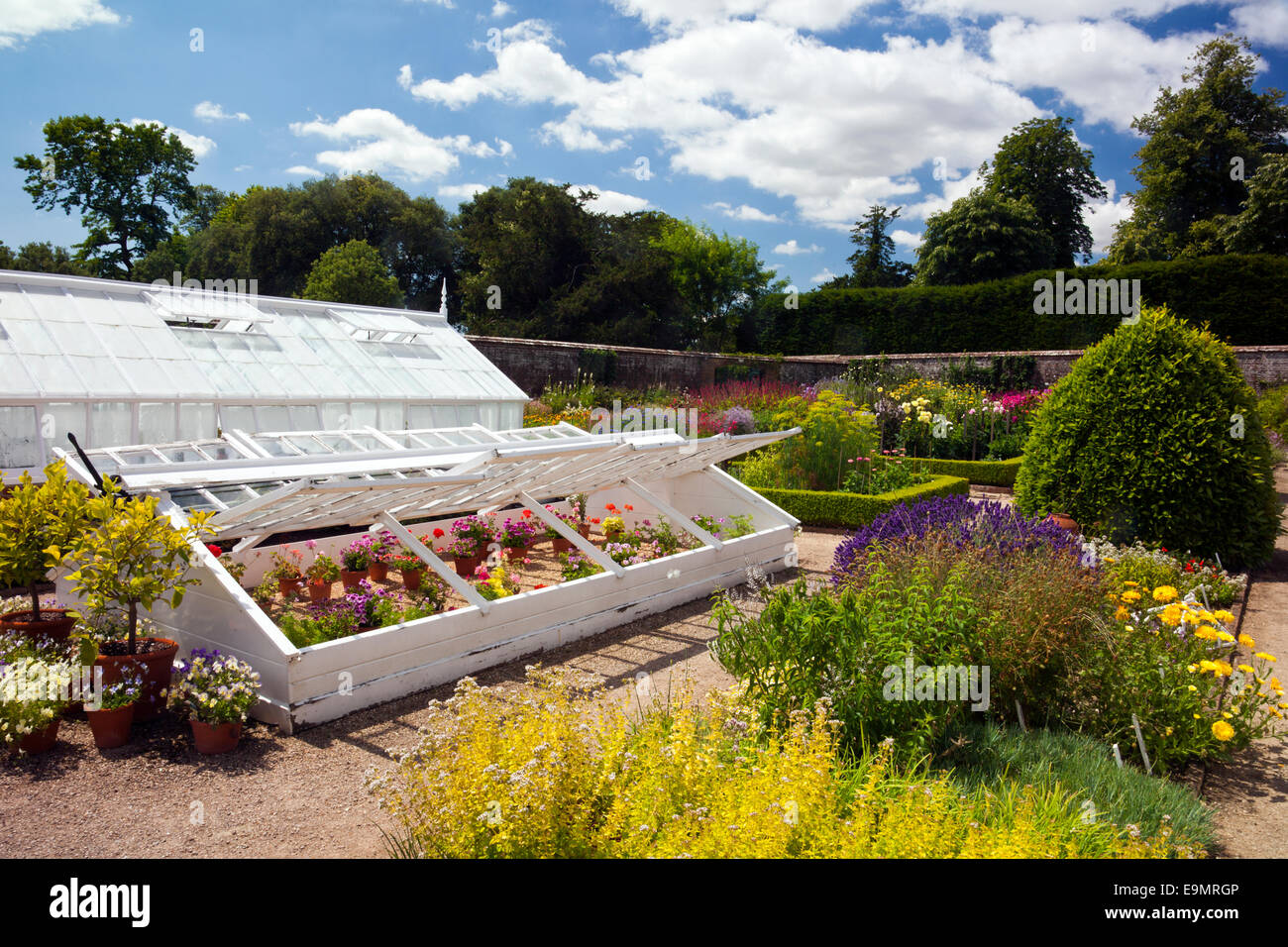 Some Of The Victorian Glasshouses And Cold Frames In The Walled