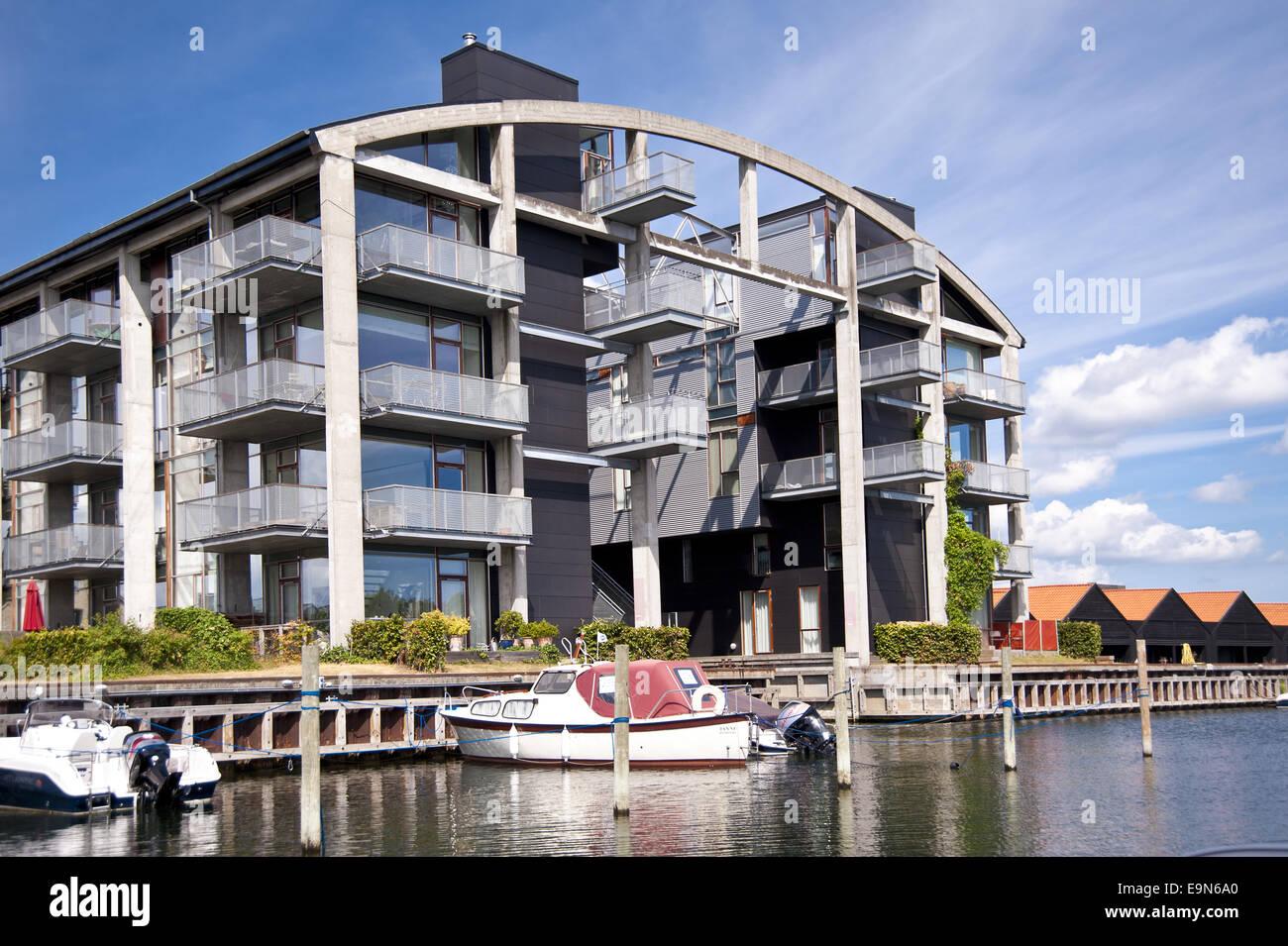 modern architecture in copenhagen denmark stock photo