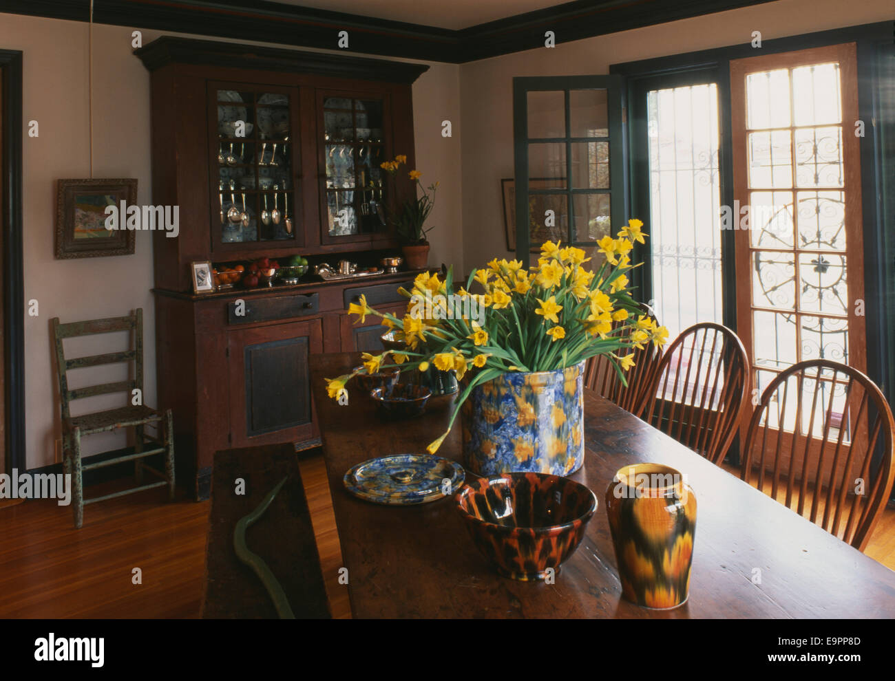 Dining Room Table And Dresser In Villa Abbondanza Los Angeles USA