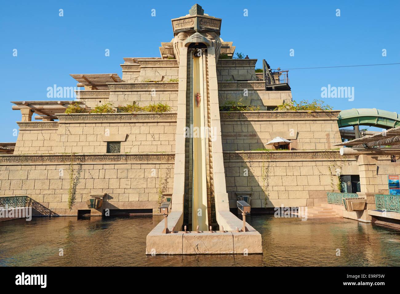 The Tower Of Neptune Water Slide At Aquaventure Waterpark Atlantis Hotel Palm Dubai UAE