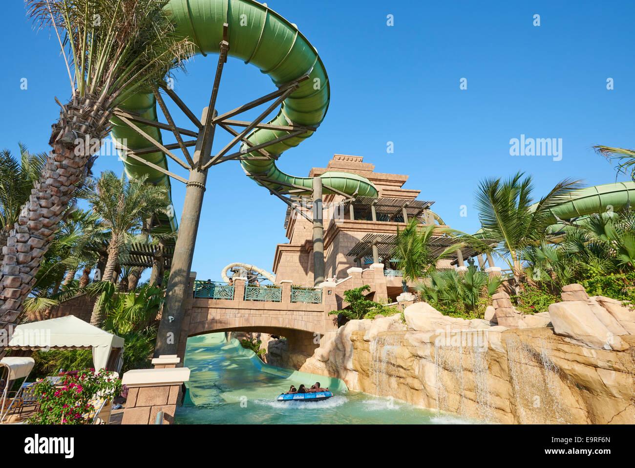 The Tower Of Poseidon Water Slide At Aquaventure Waterpark Atlantis Hotel Palm Dubai UAE