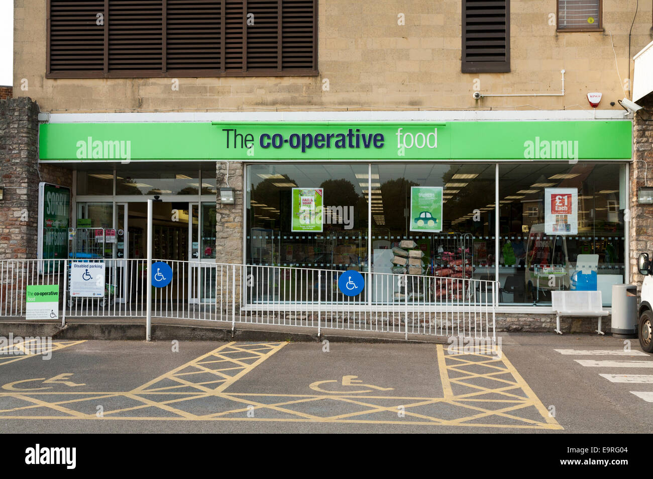 A Coop Co op Cooperative UK store / shop / supermarket. Wells Stock Photo, Royalty Free Image ...