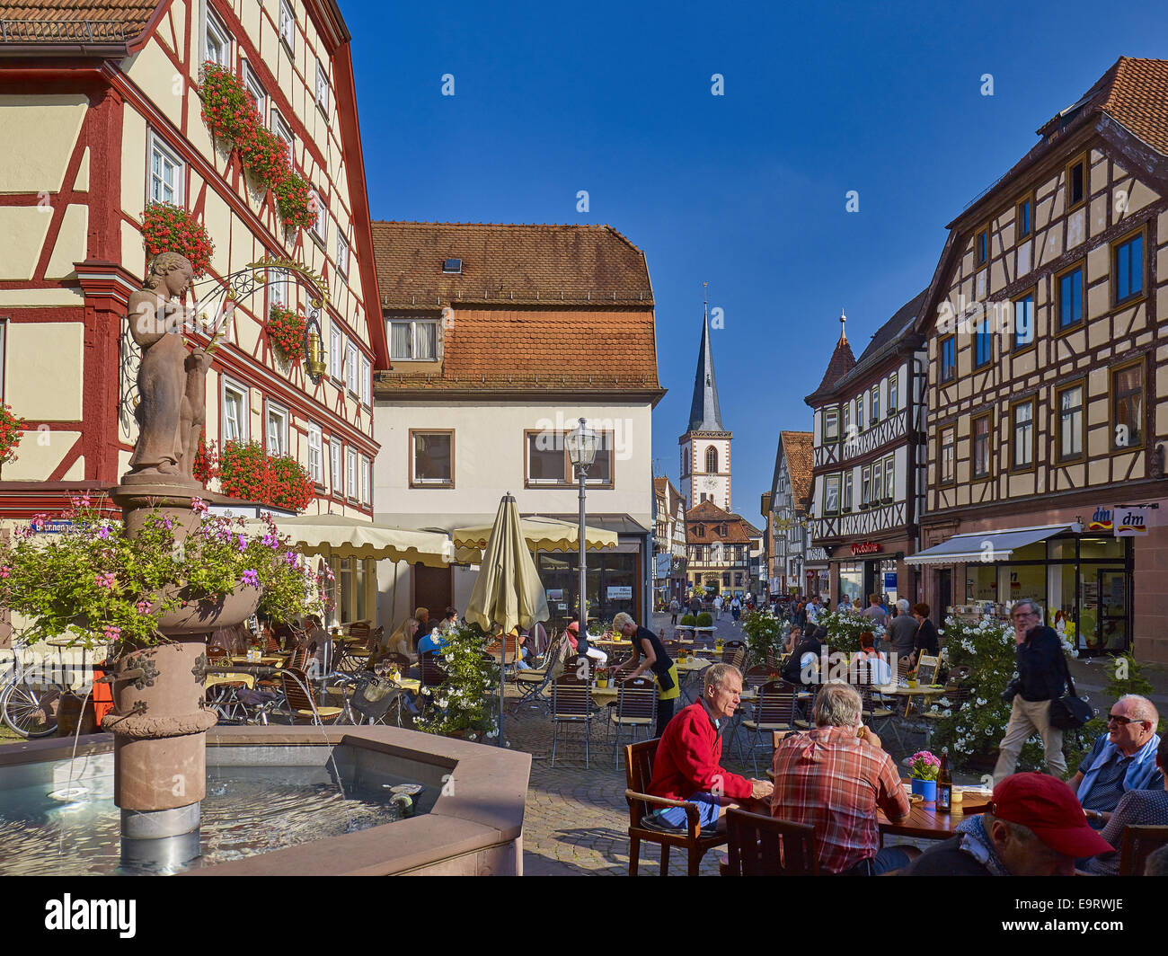 Marketplace in the old town lohr am main germany stock for Heimbach lohr am main