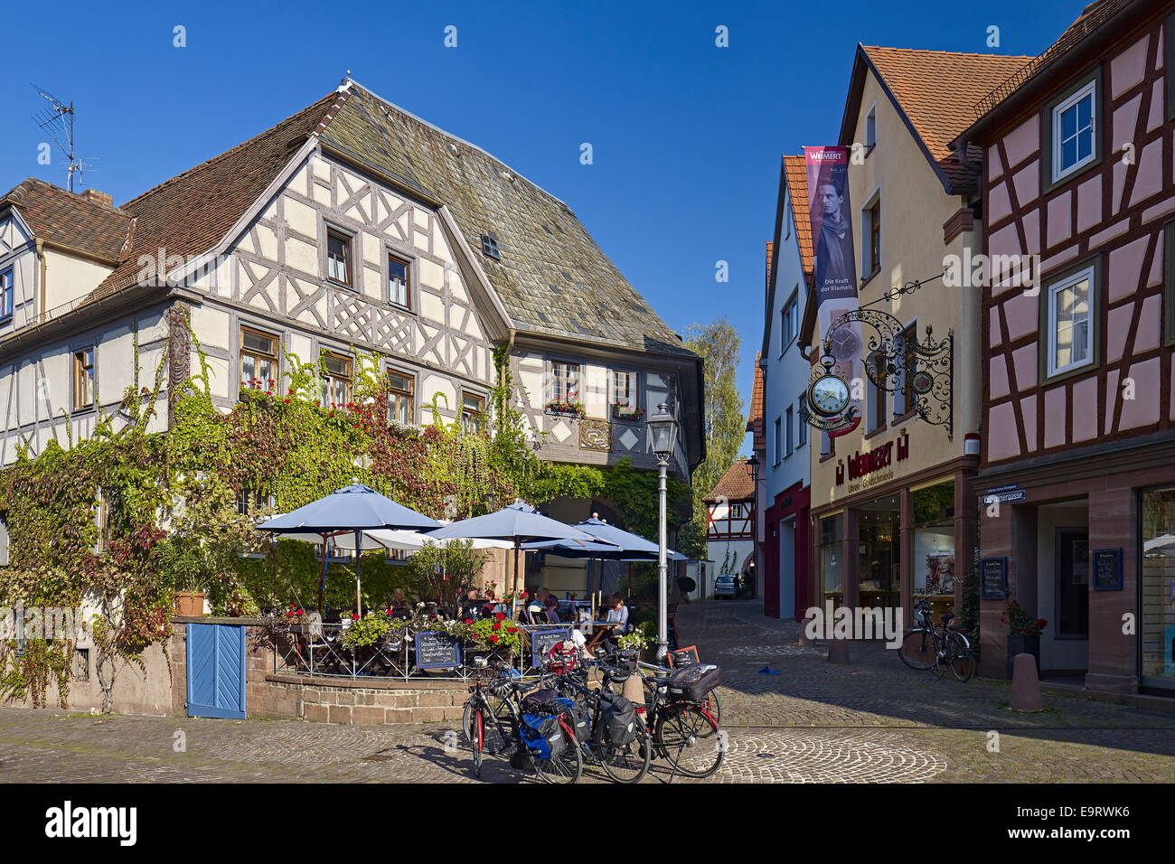 Gasthof krone in lohr am main germany stock photo for Ps tischdesign lohr am main