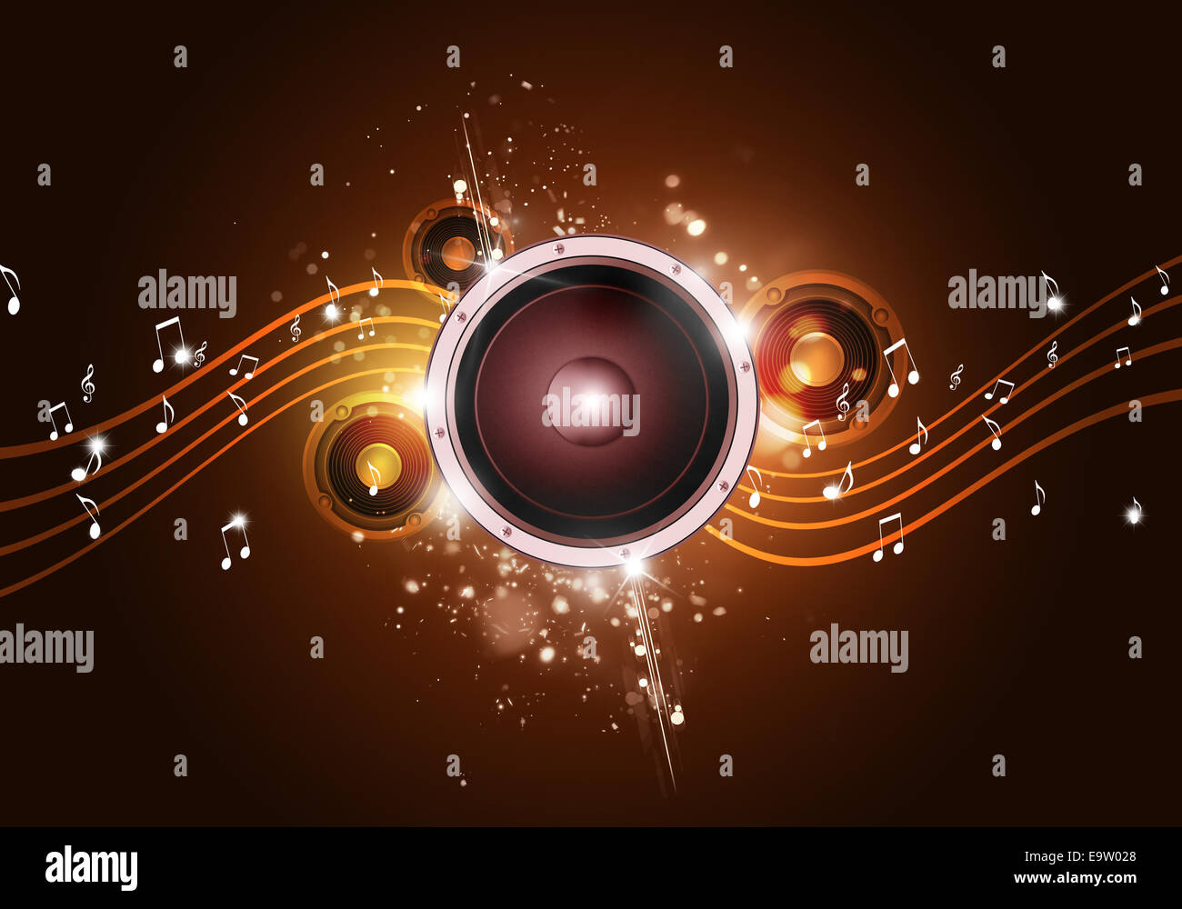 party music golden background for flyers and nightclub posters ...