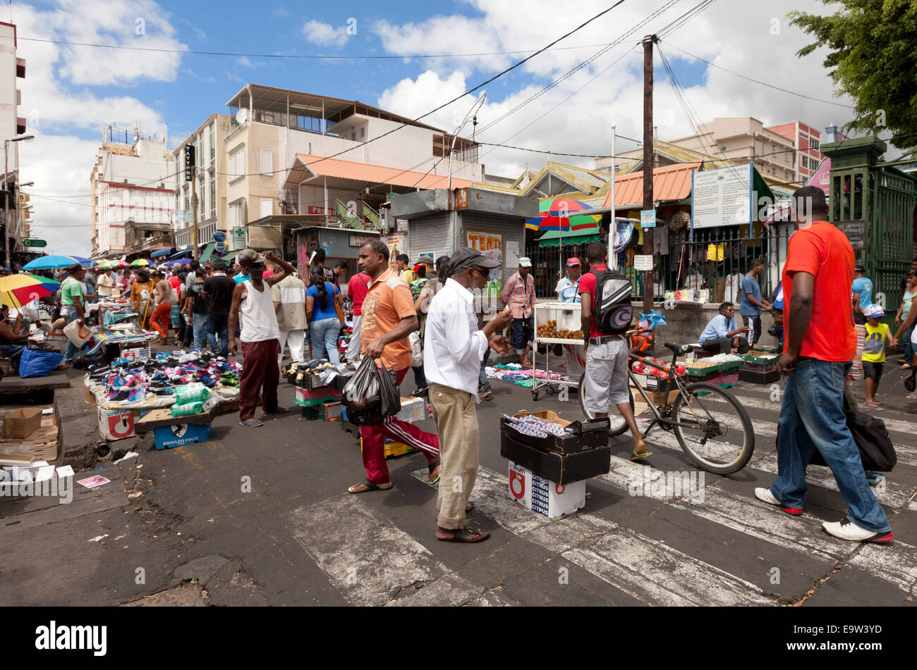 Mauritius port louis local mauritian people shopping at the stock photo royalty free image - Mauritius market port louis ...