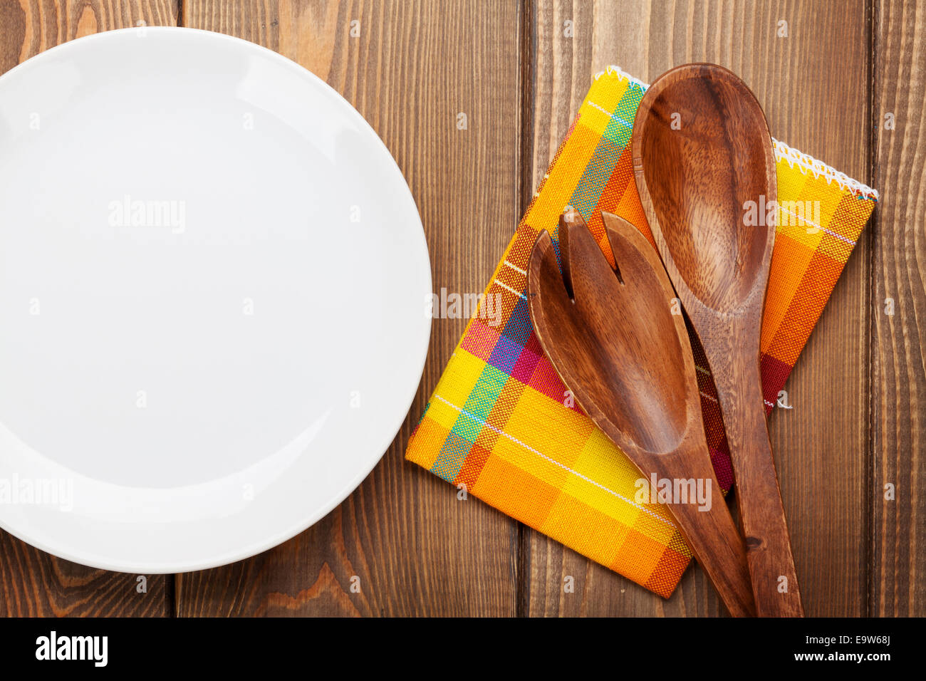Kitchen Utensils Background rustic style kitchen wooden plate stock photos & rustic style