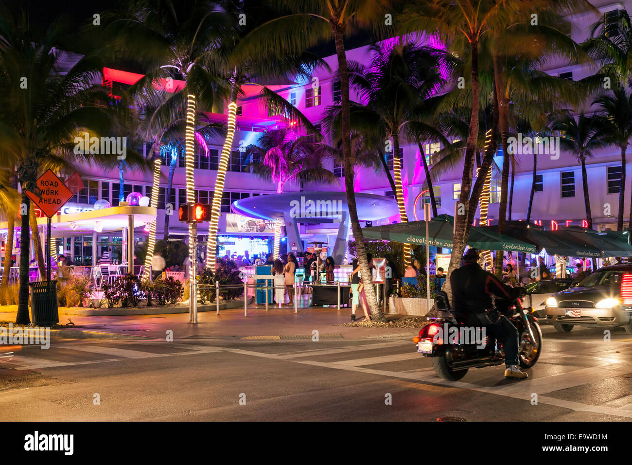 Colorful Lighting Of The Clevelander Hotel And Nightclub