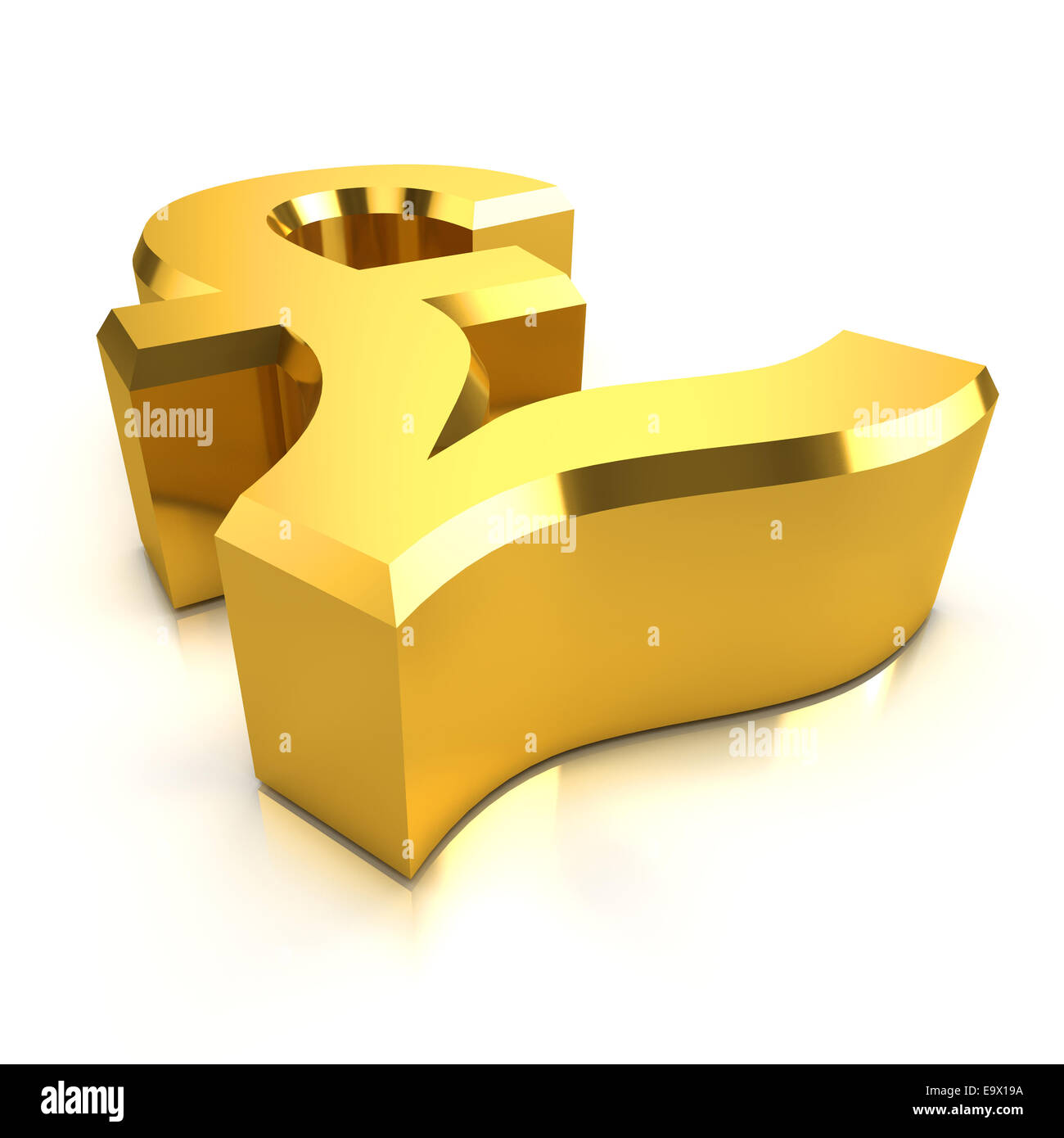 3d render of a gold uk pounds sterling currency symbol stock photo 3d render of a gold uk pounds sterling currency symbol biocorpaavc Gallery
