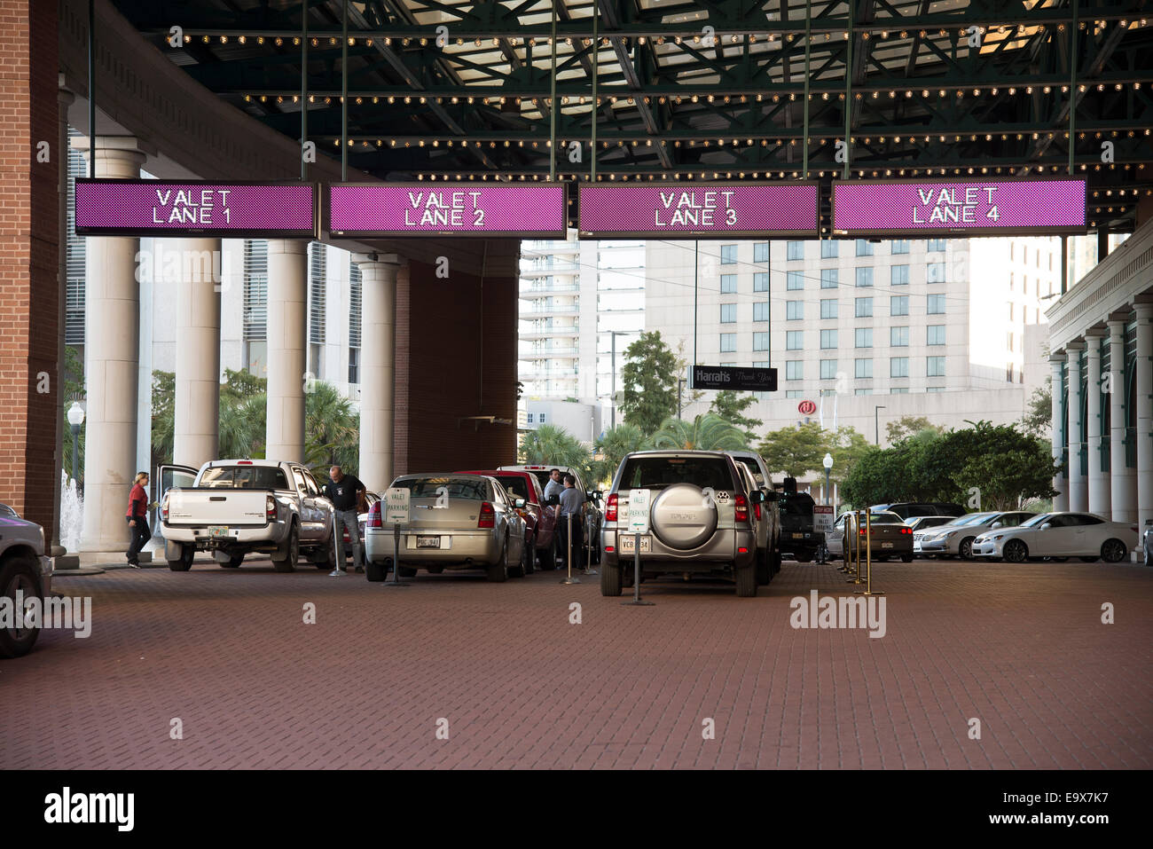 Valet parking of customer\'s cars USA Parking lanes at a casino in ...