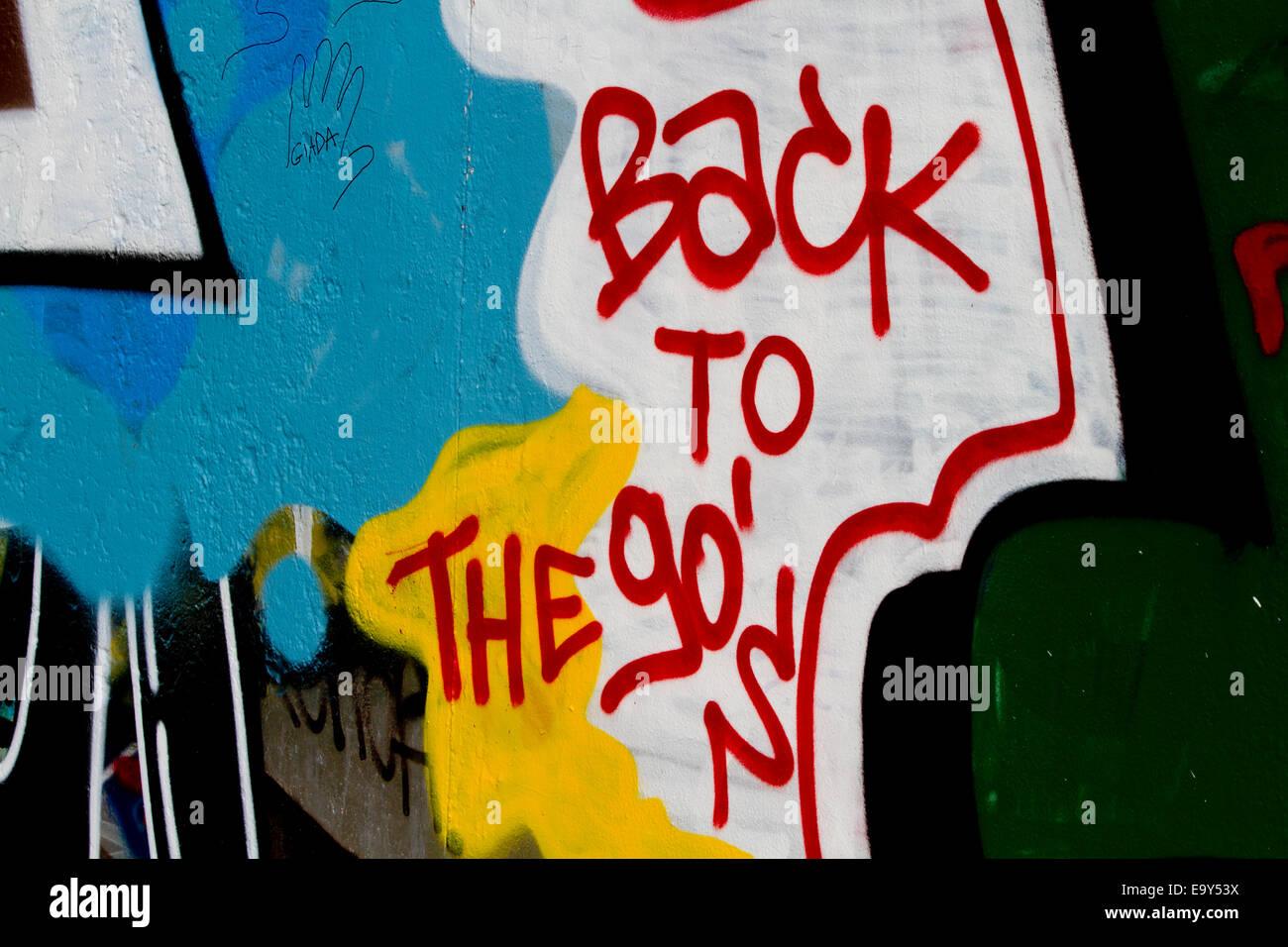 90 S Walls Google Search: Back To The 90s Berlin Wall Graffiti Urban Colour Stock