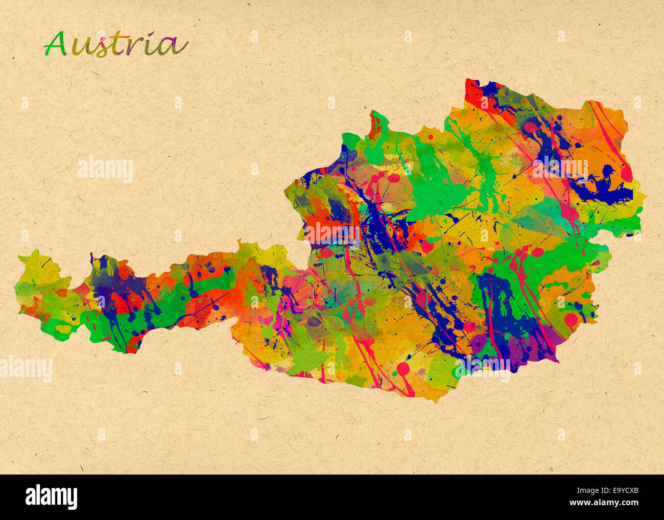 Austria Watercolor Map. Beautiful Wall Art / Home Decor Canvas ...