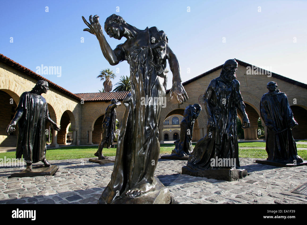 Stock Photo The Burghers Of Calais Bronze Sculptures By Auguste Rodin At Stanford 75021837 on Silicon Symbol Stock
