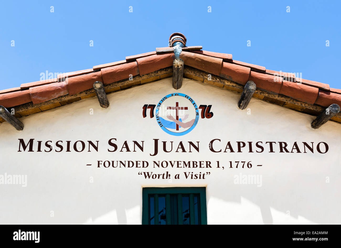 Sign Over The Entrance To Mission San Juan Capistrano San