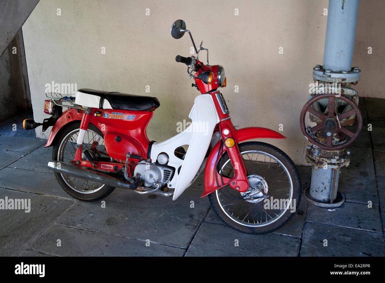 Honda passport motor scooter stock photo royalty free for Honda motor company stock