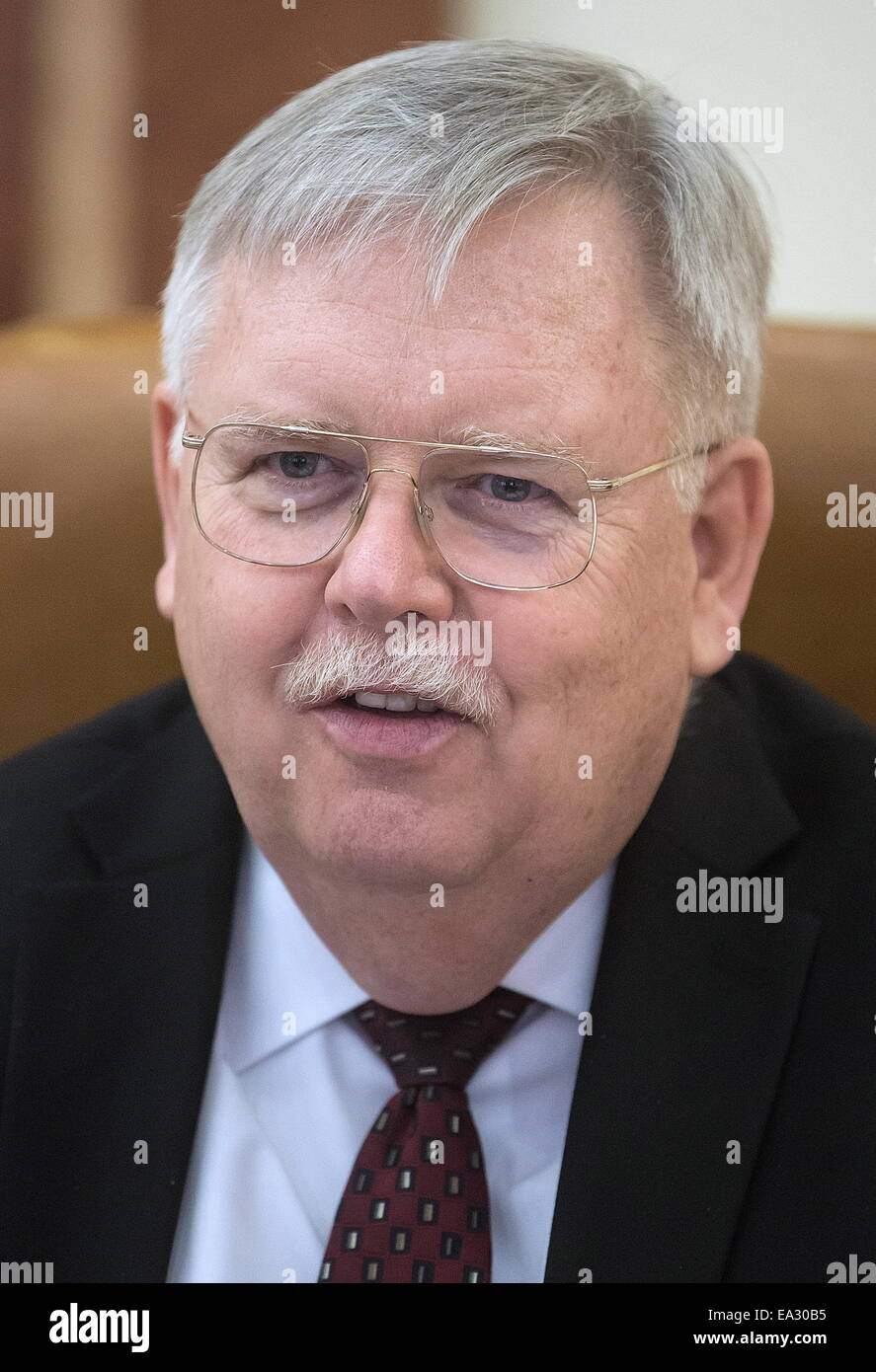 US ambassador to Russia, John Tefft seen after a meeting with acting chairman of the Russian Federation Council international relations committee, ... - moscow-russia-5th-nov-2014-us-ambassador-to-russia-john-tefft-seen-EA30B5